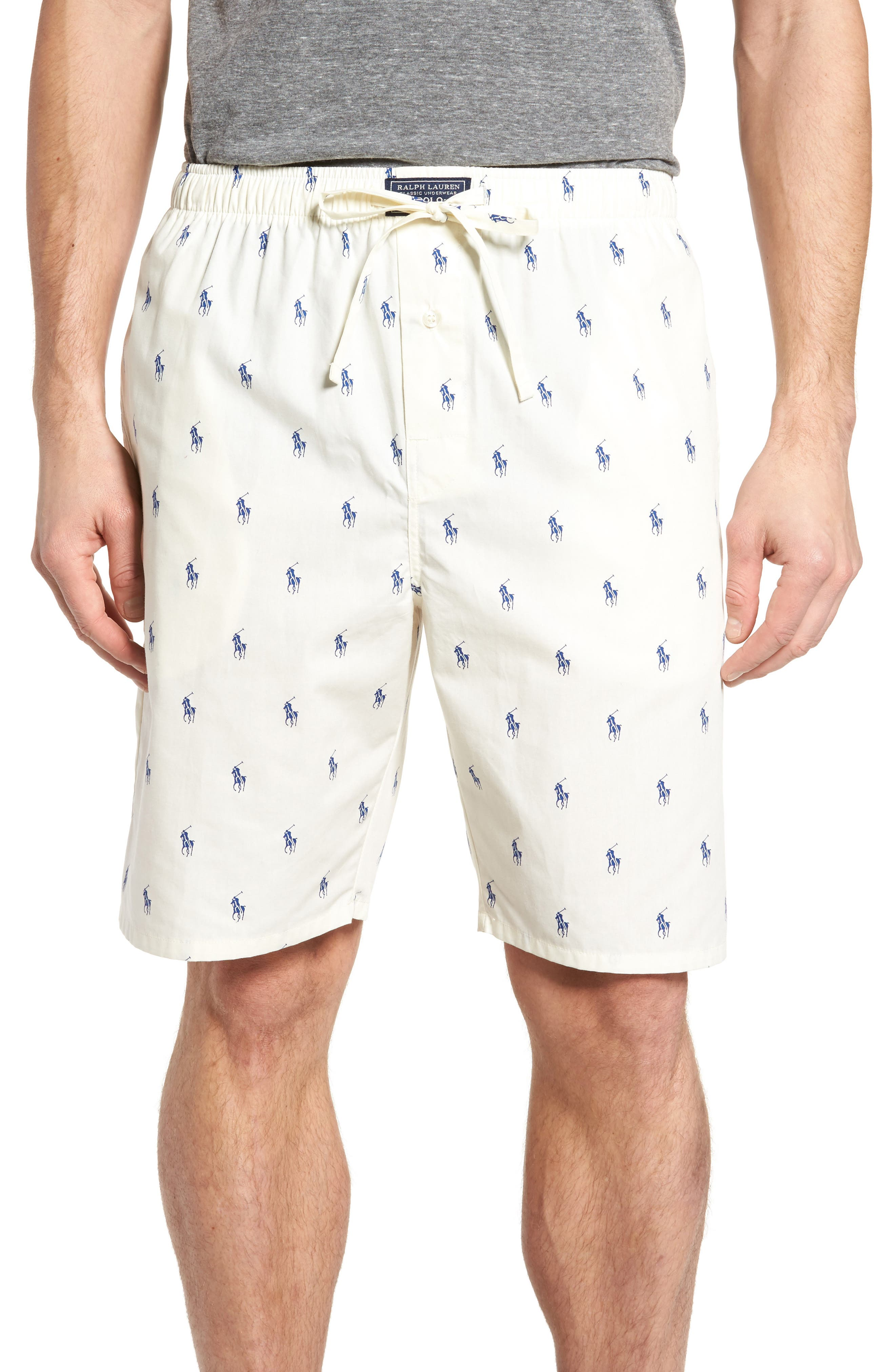 Alternate Image 1 Selected - Ralph Lauren Woven Pajama Shorts