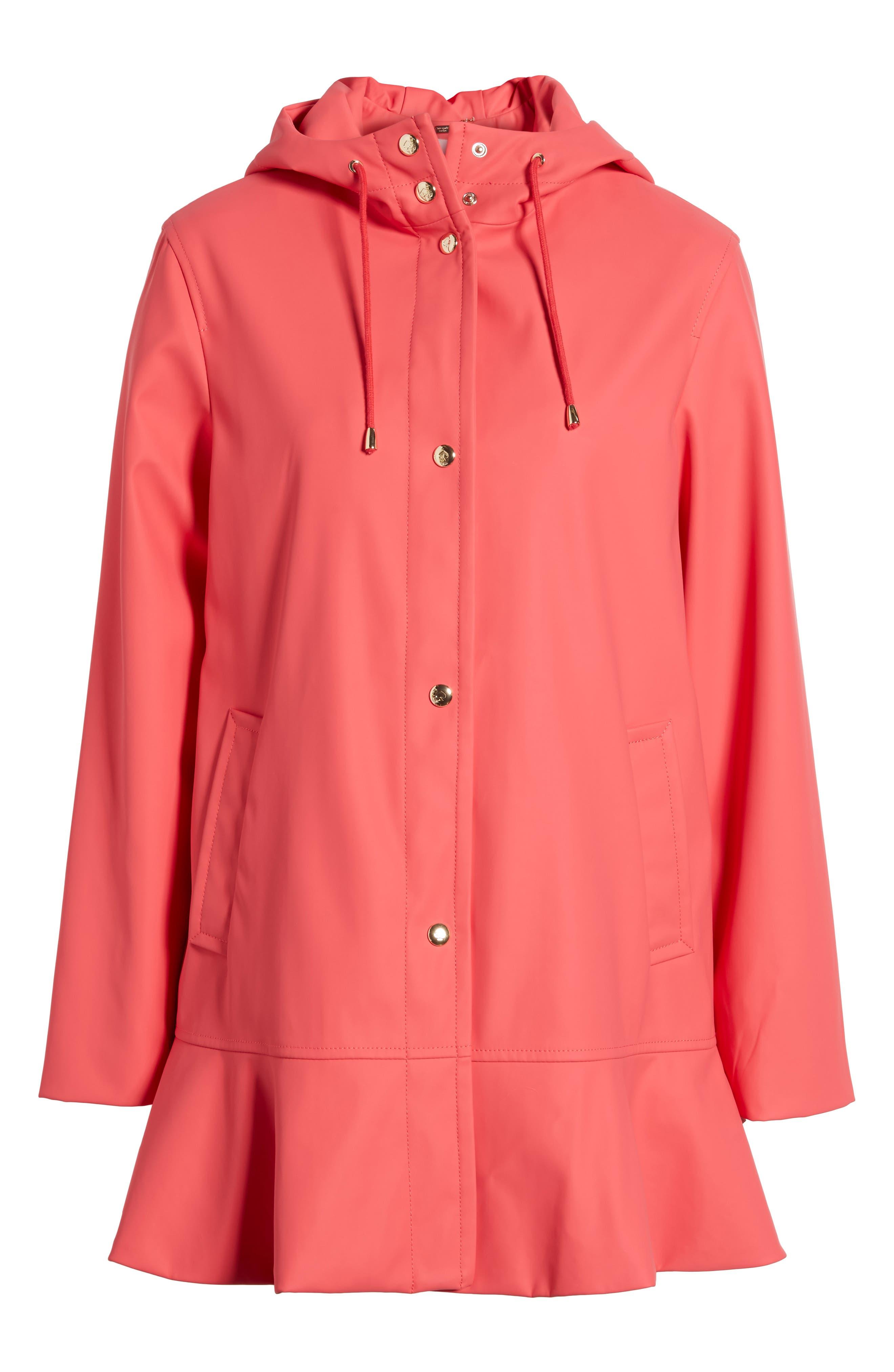 Alternate Image 6  - kate spade new york hooded peplum rain coat
