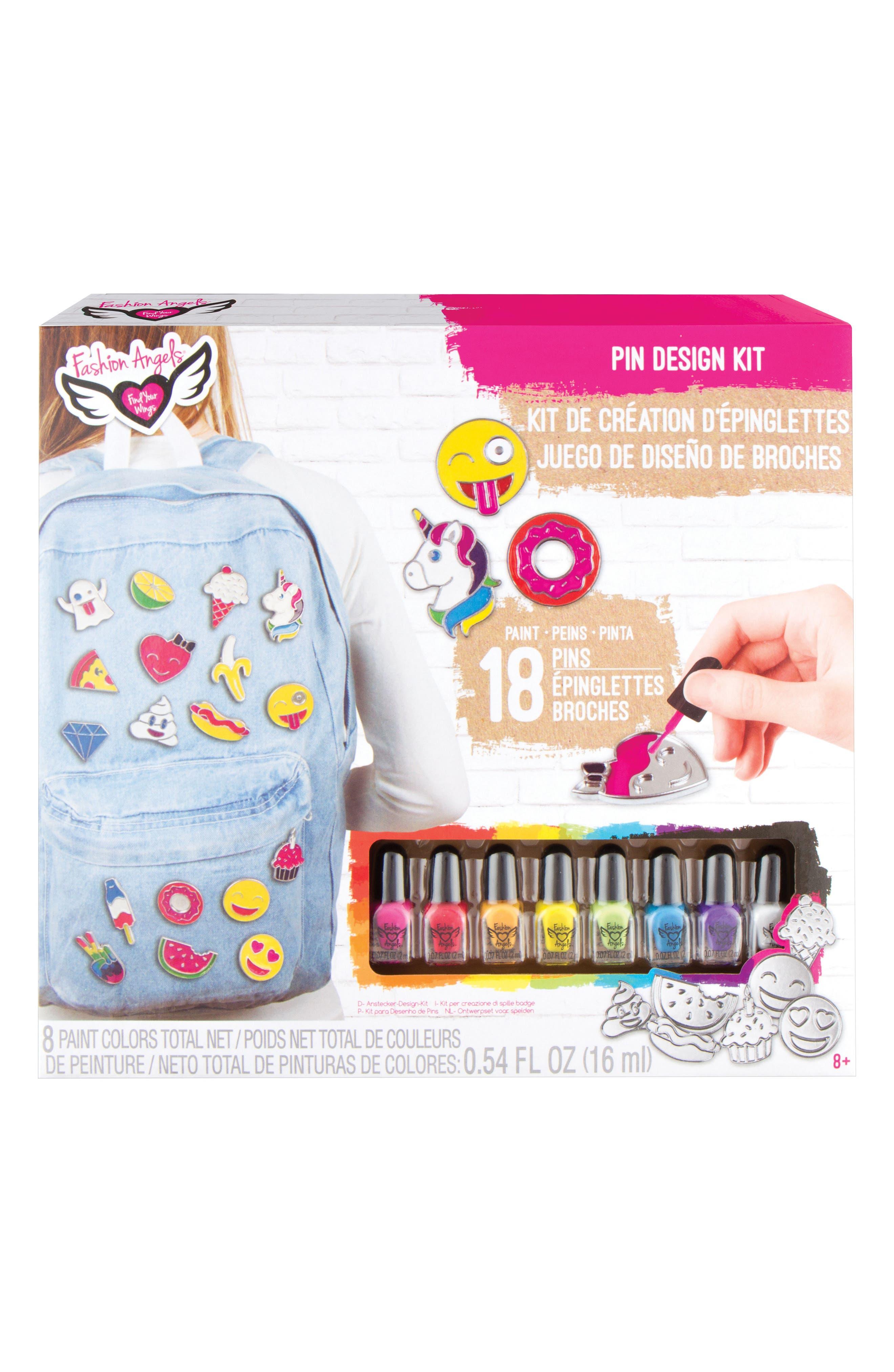 Pin Design Kit,                             Main thumbnail 1, color,                             Pink