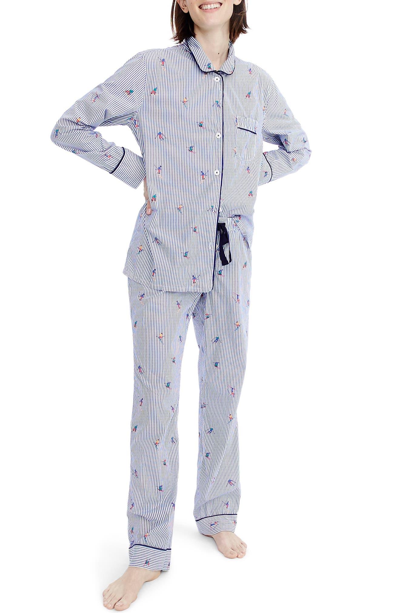 Alternate Image 1 Selected - J.Crew Skier Pajamas