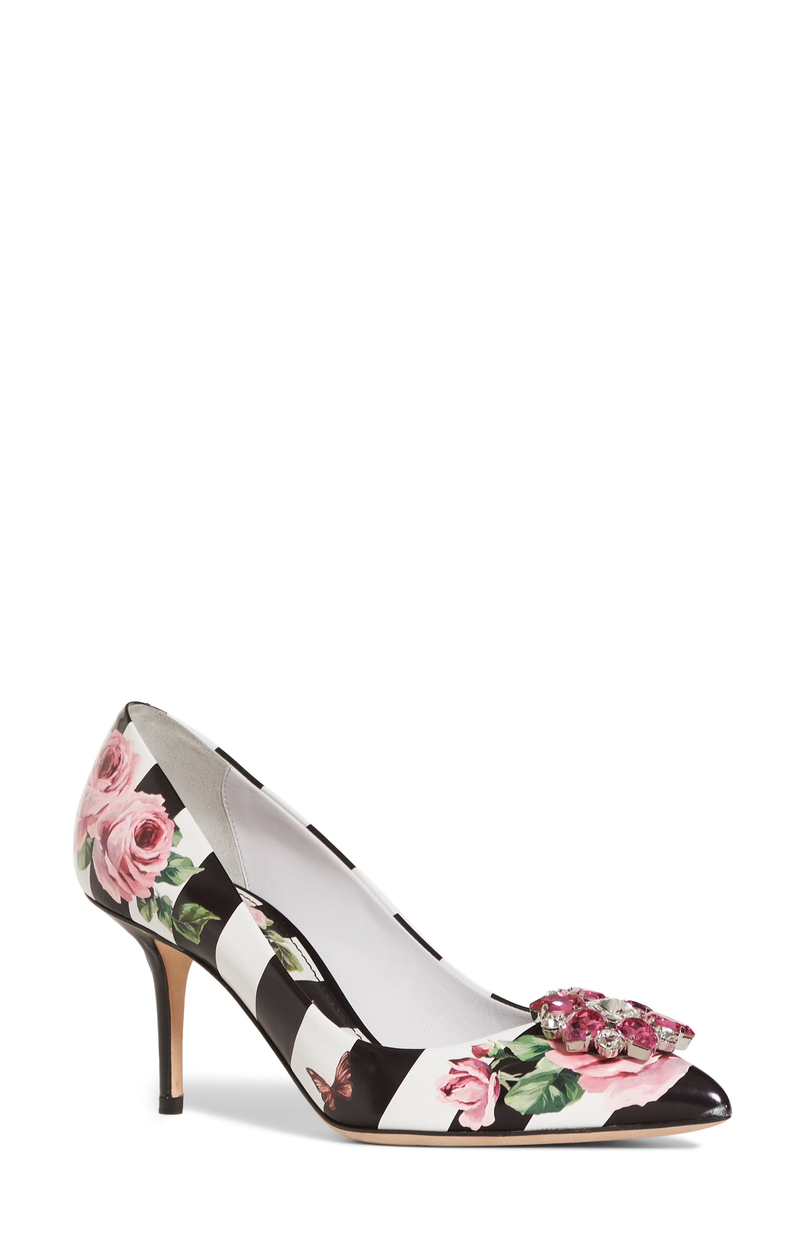 Dolce&Gabbana Stripe Rose Pump (Women)