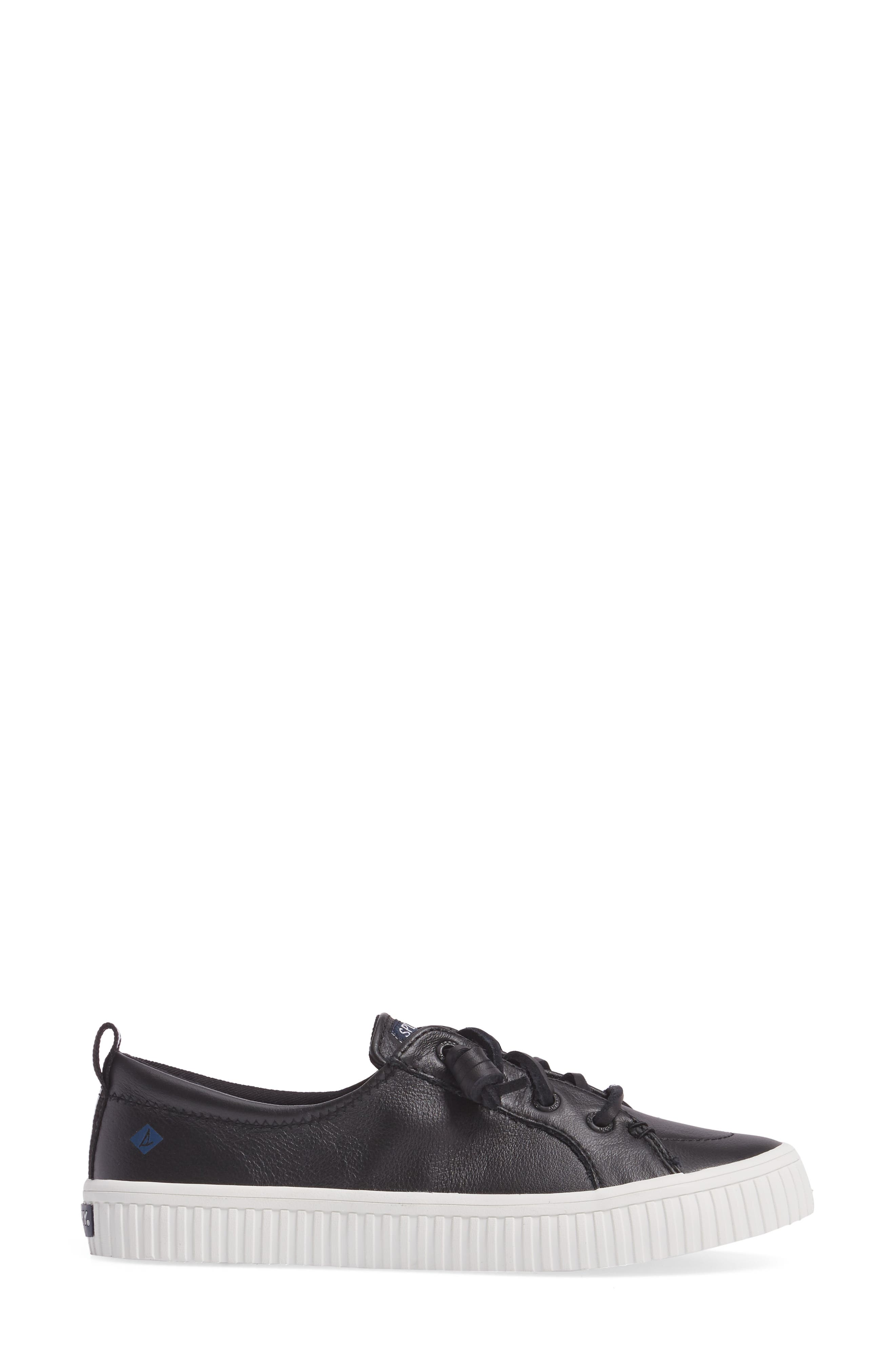 Crest Vibe Creeper Sneaker,                             Alternate thumbnail 3, color,                             Black Leather