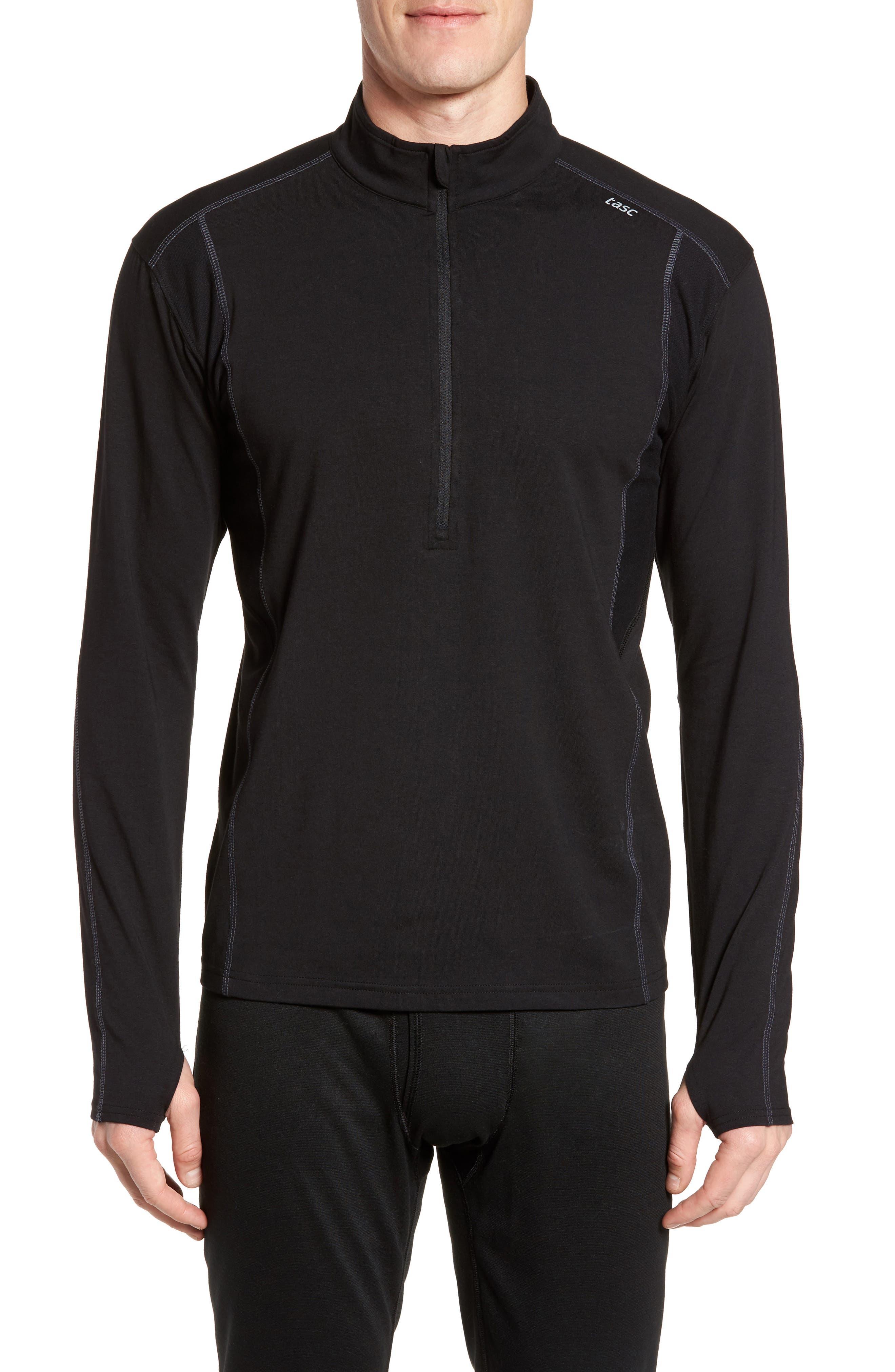 Charge Quarter-Zip Pullover,                         Main,                         color, Black/ Gunmetal