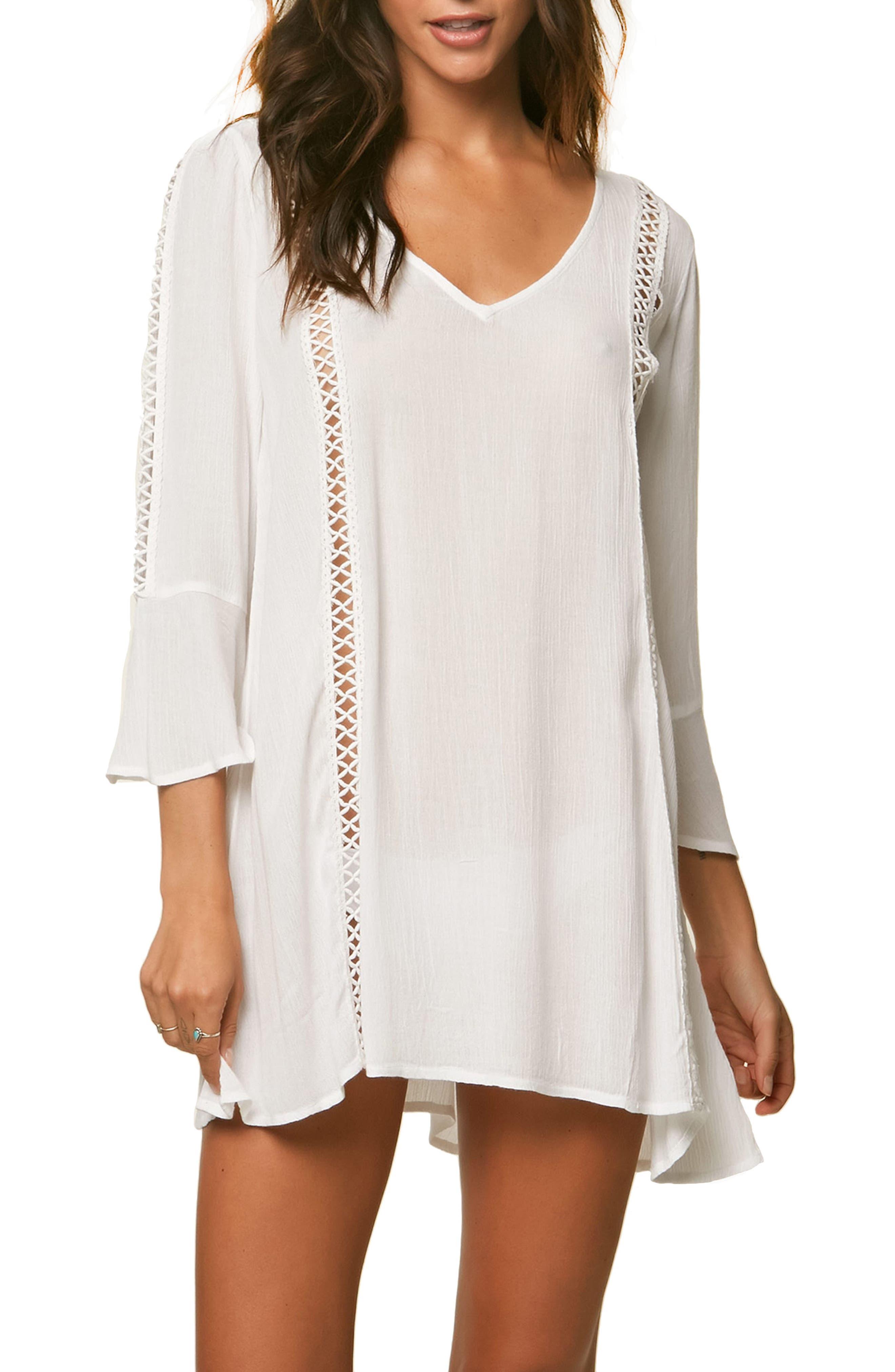Estella Cover-up Dress,                             Main thumbnail 1, color,                             White