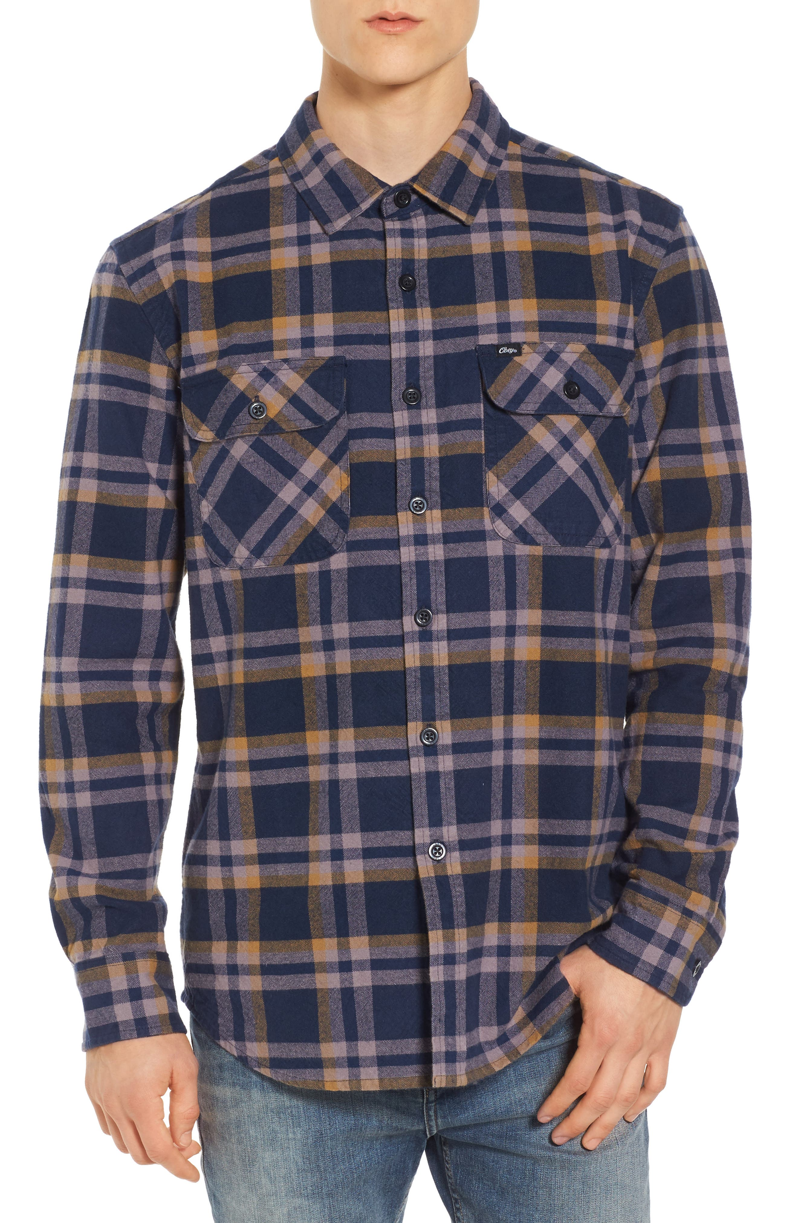 Main Image - Obey Plaid Flannel Shirt