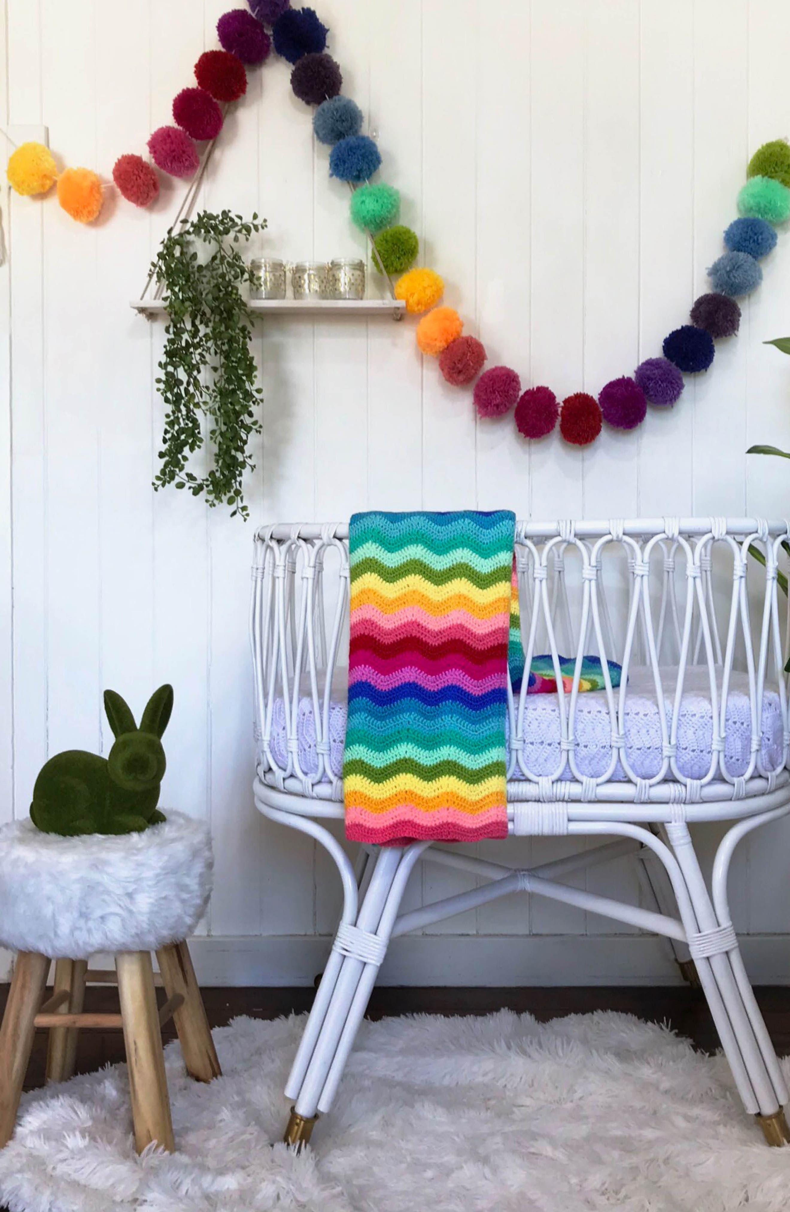 Alternate Image 8  - O.B. Designs Ripple Crocheted Blanket (Baby)