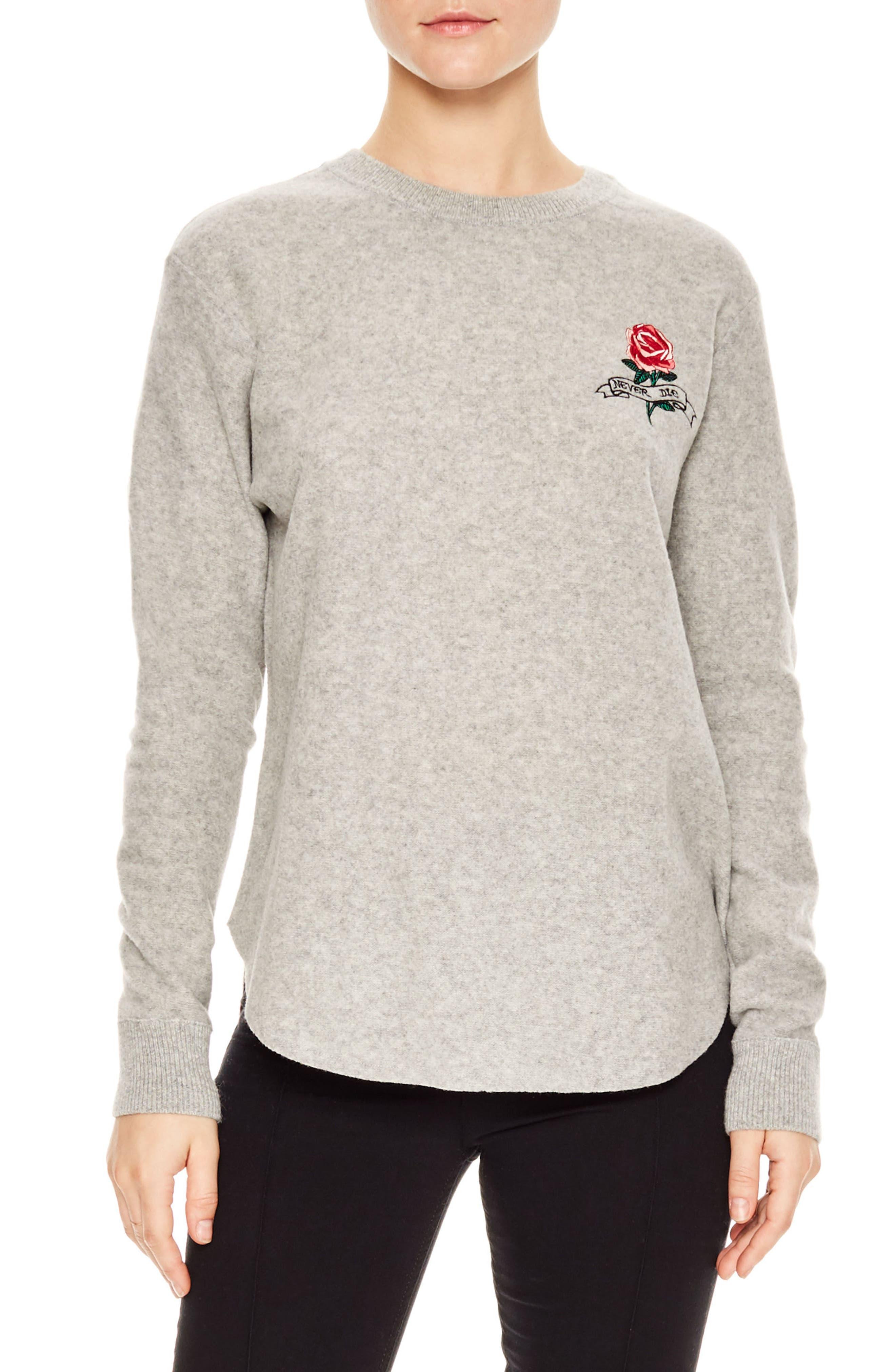 sandro Glen Long Sleeve Wool Pullover