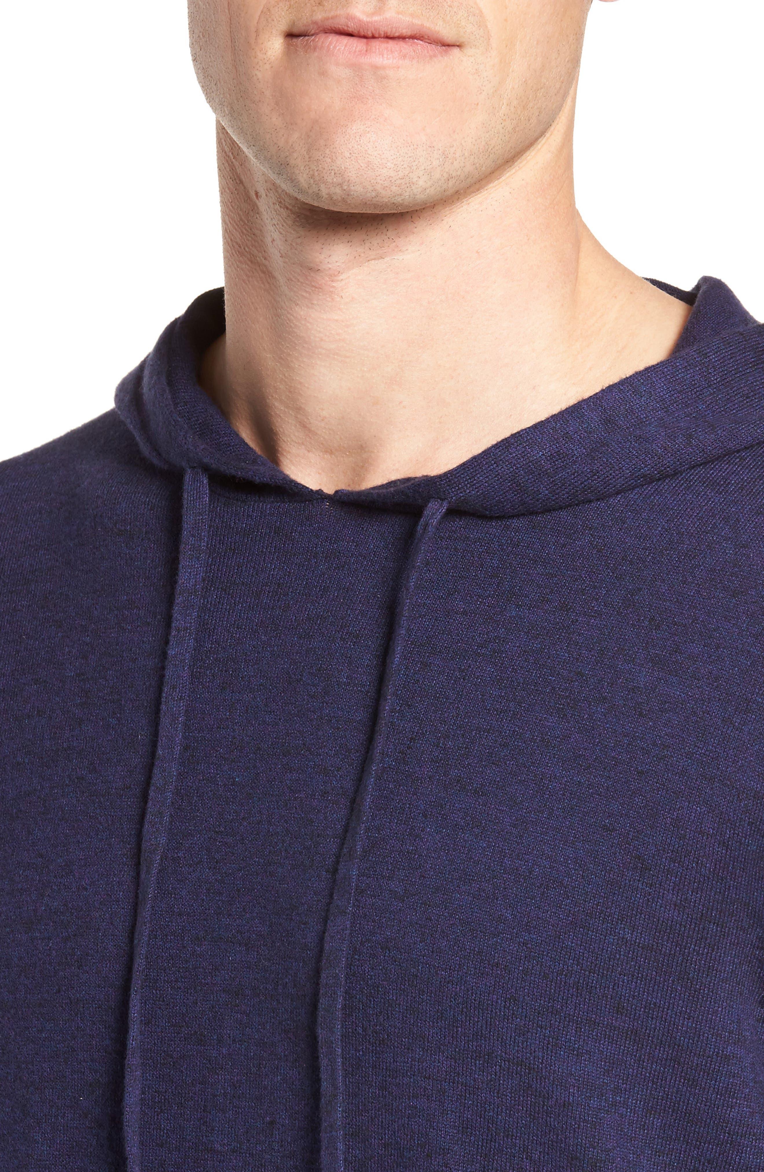Alternate Image 4  - Nordstrom Men's Shop Fine Gauge Cotton Hoodie