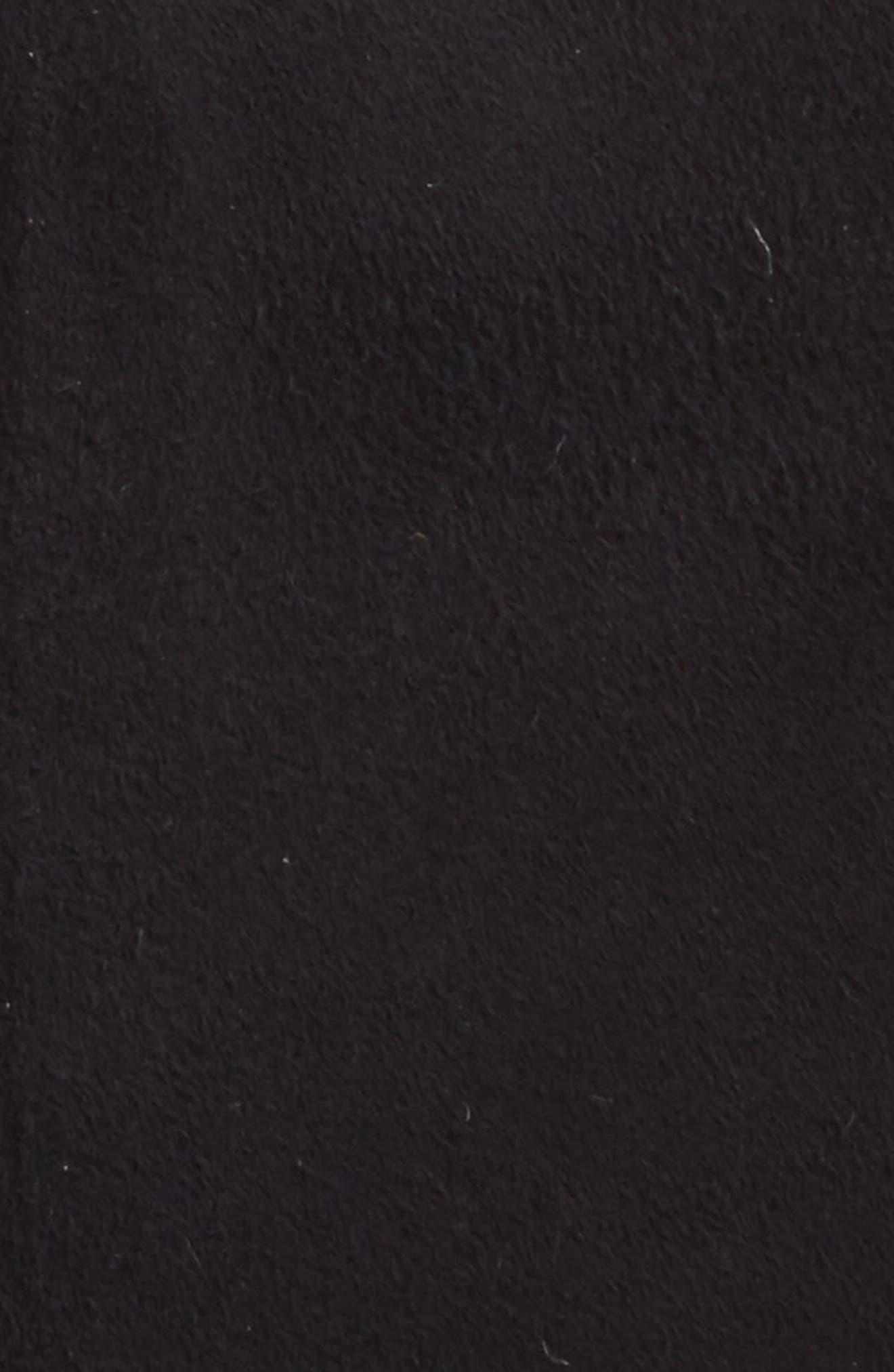 Heritage Logo Genuine Shearling Mittens,                             Alternate thumbnail 2, color,                             Black