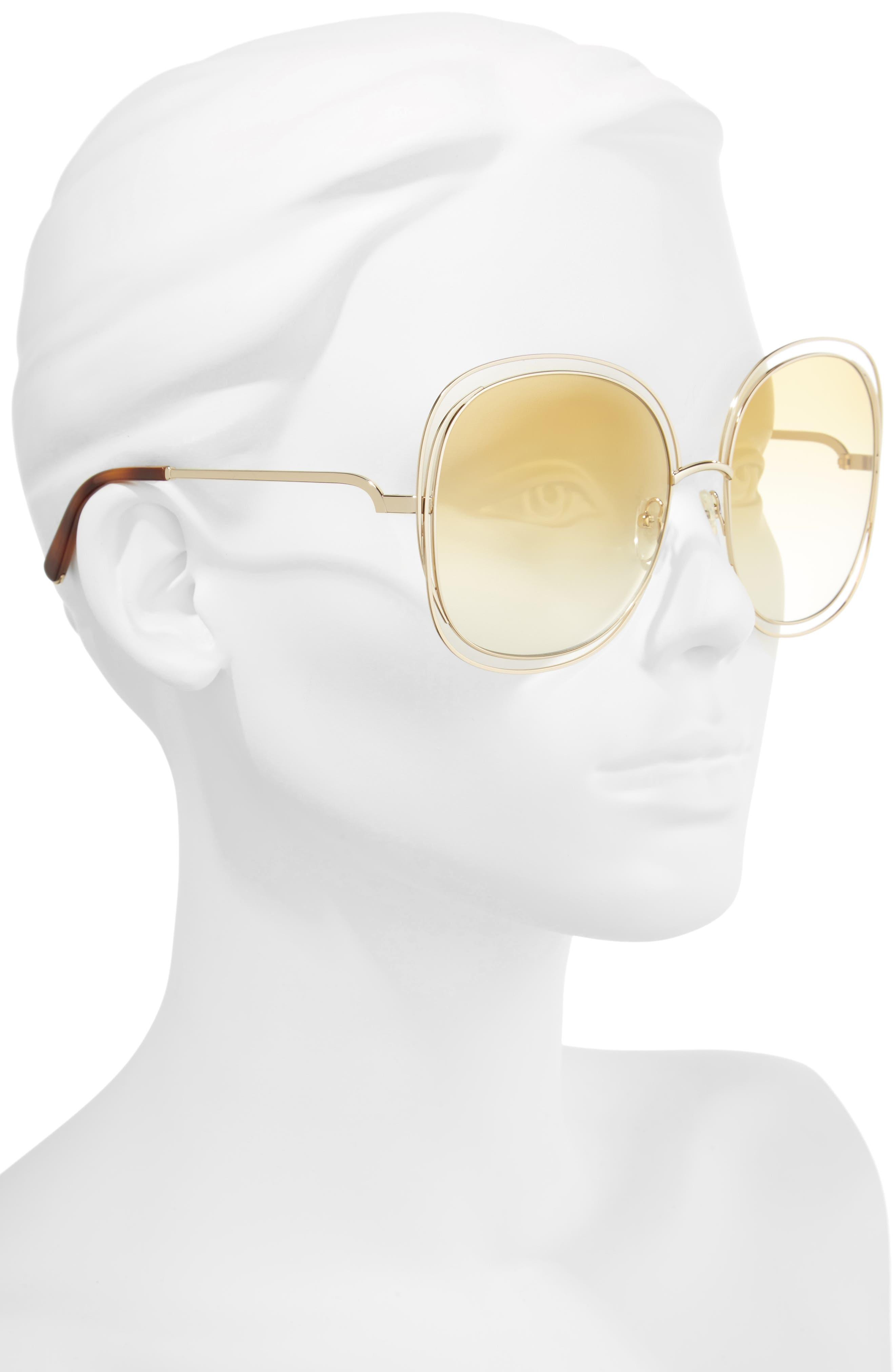 Alternate Image 2  - Chloé Carlina 62mm Oversize Sunglasses