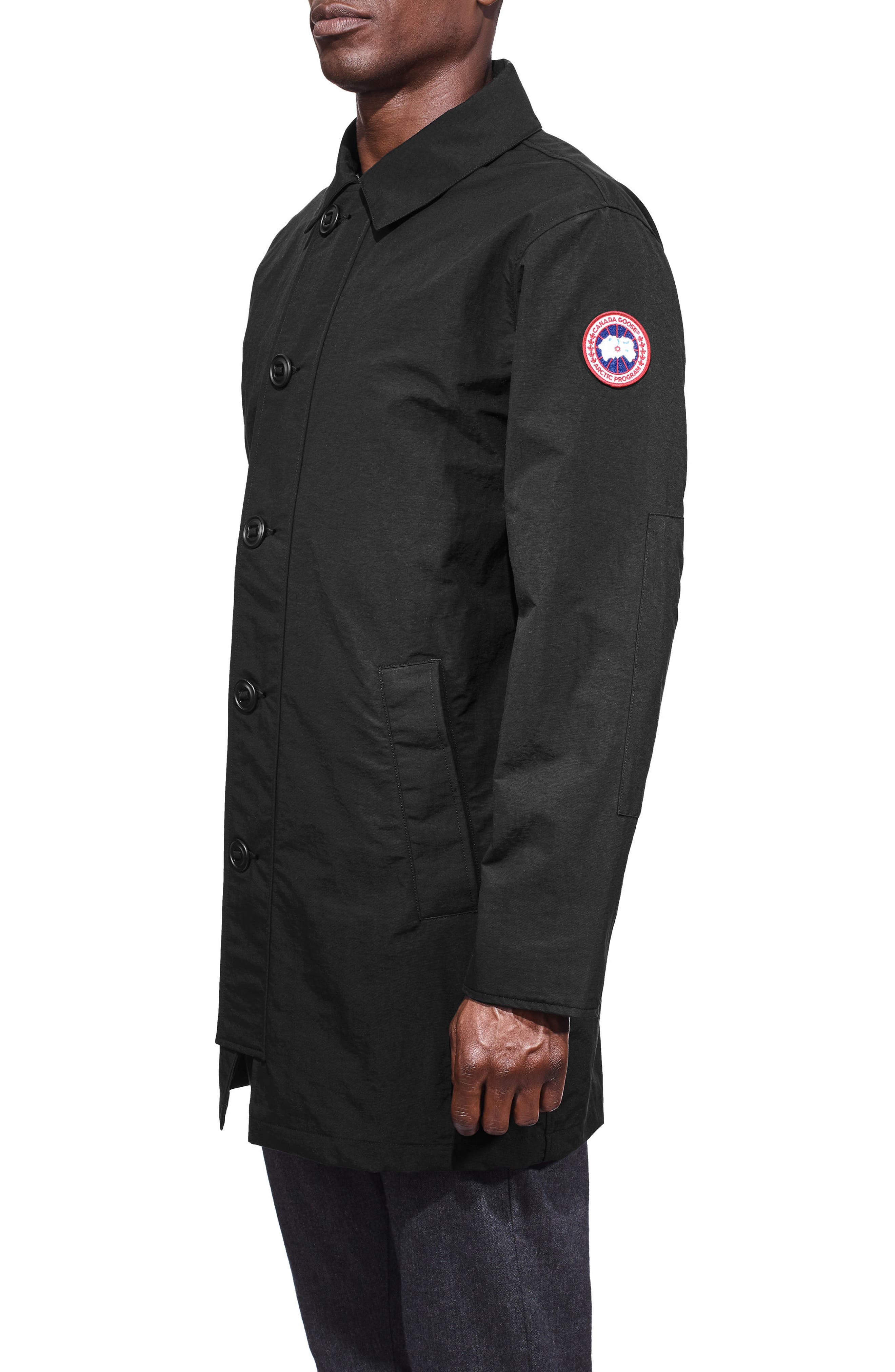 Wainwright Coat,                             Alternate thumbnail 3, color,                             Black