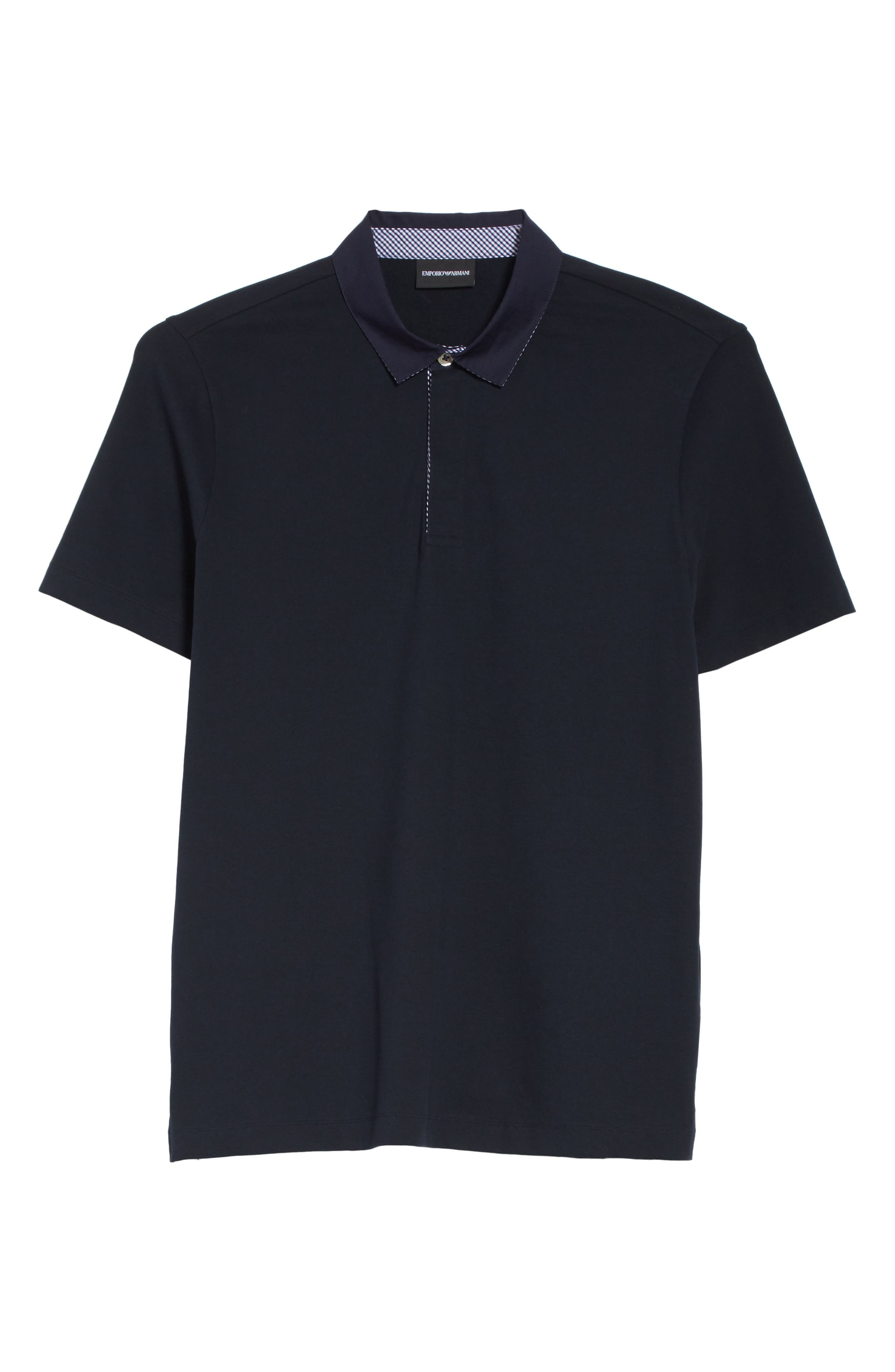 Slim Fit Stretch Polo,                             Alternate thumbnail 6, color,                             Blue Navy