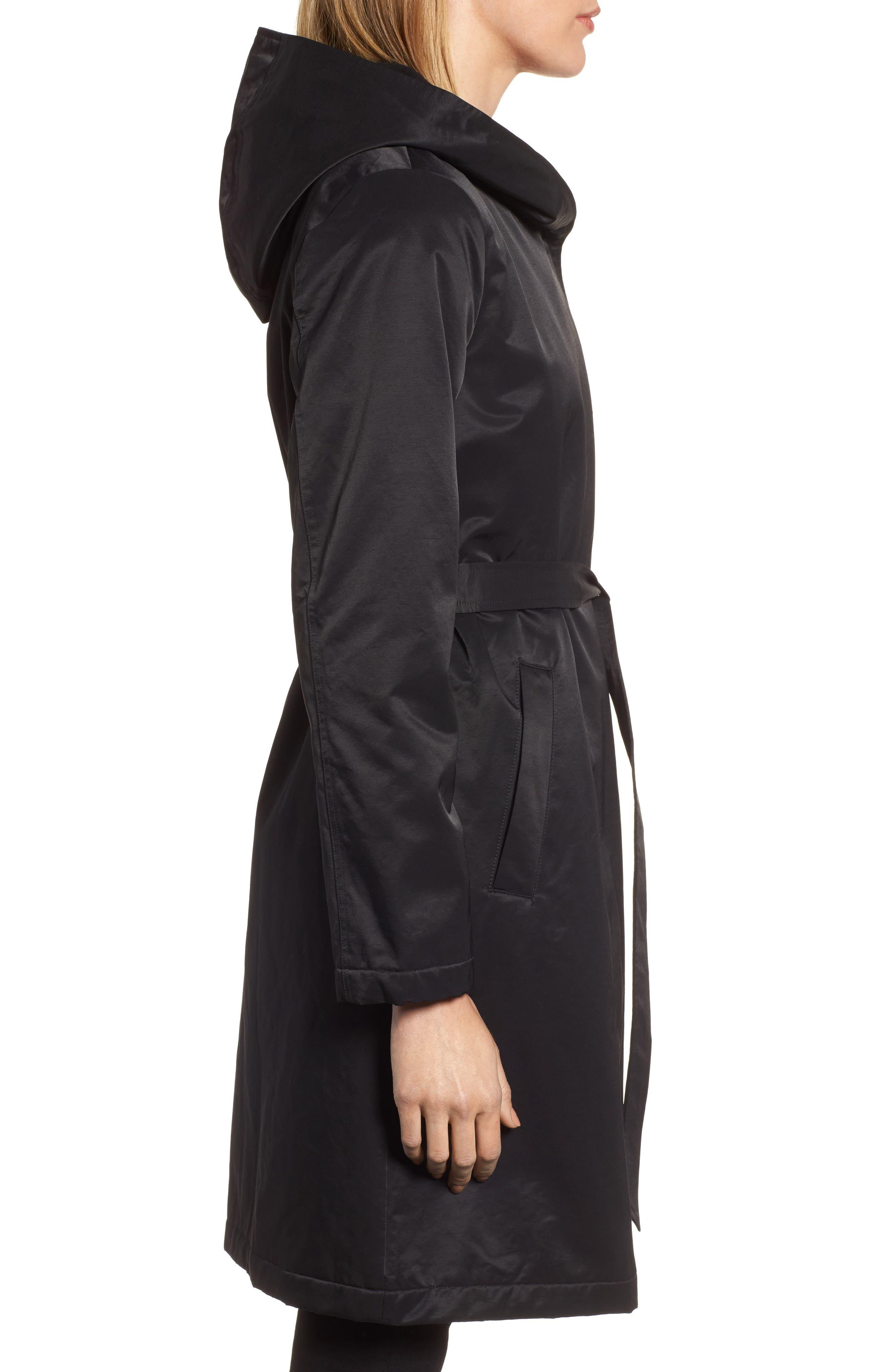 Alternate Image 3  - Eileen Fisher Fleece Lined Hooded Coat
