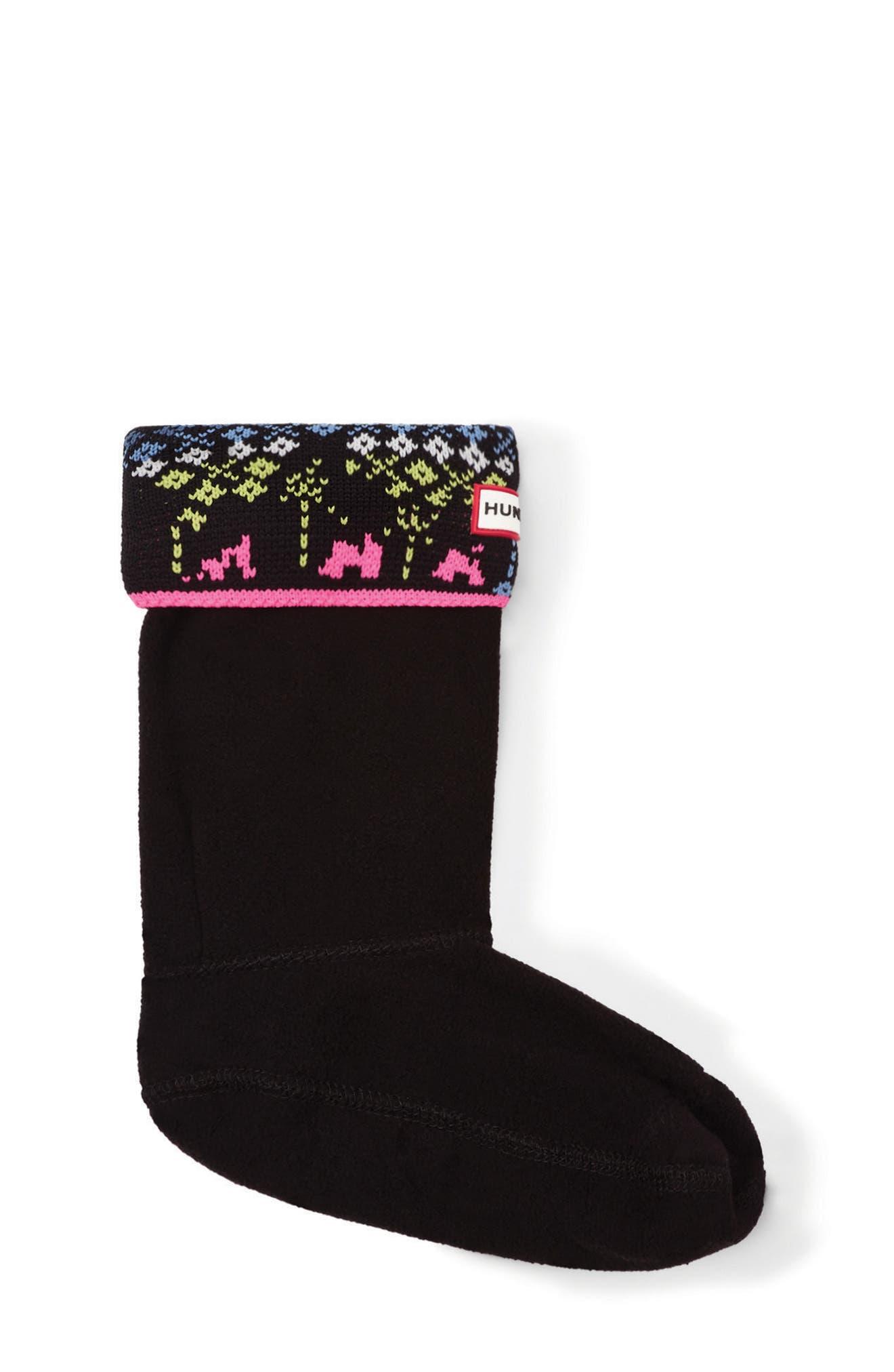 Hunter Fair Isle Cuff Boot Socks (Walker, Toddler, Little Kid & Big Kid)