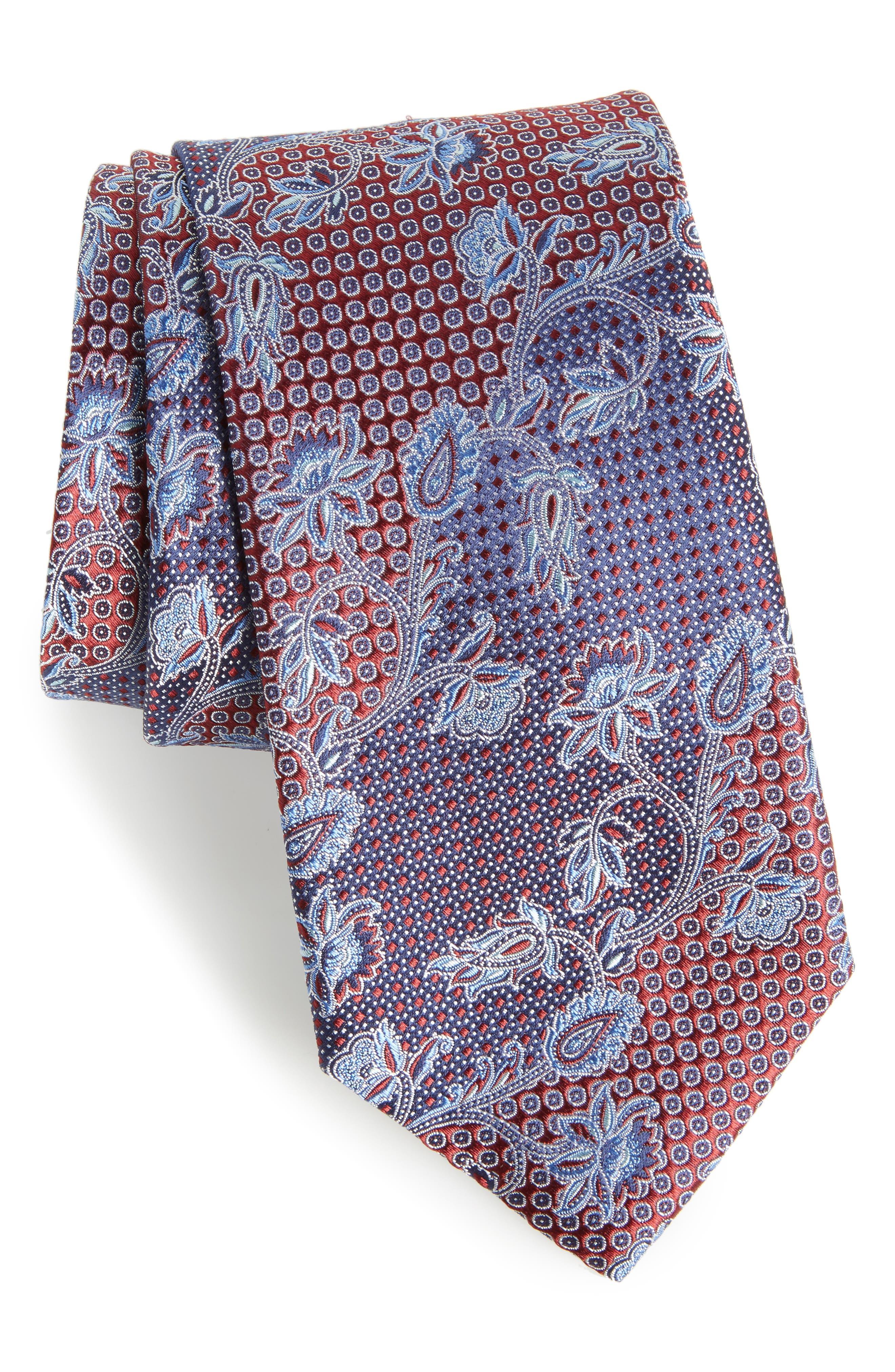 Alternate Image 1 Selected - Nordstrom Men's Shop Demarco Floral Silk Tie