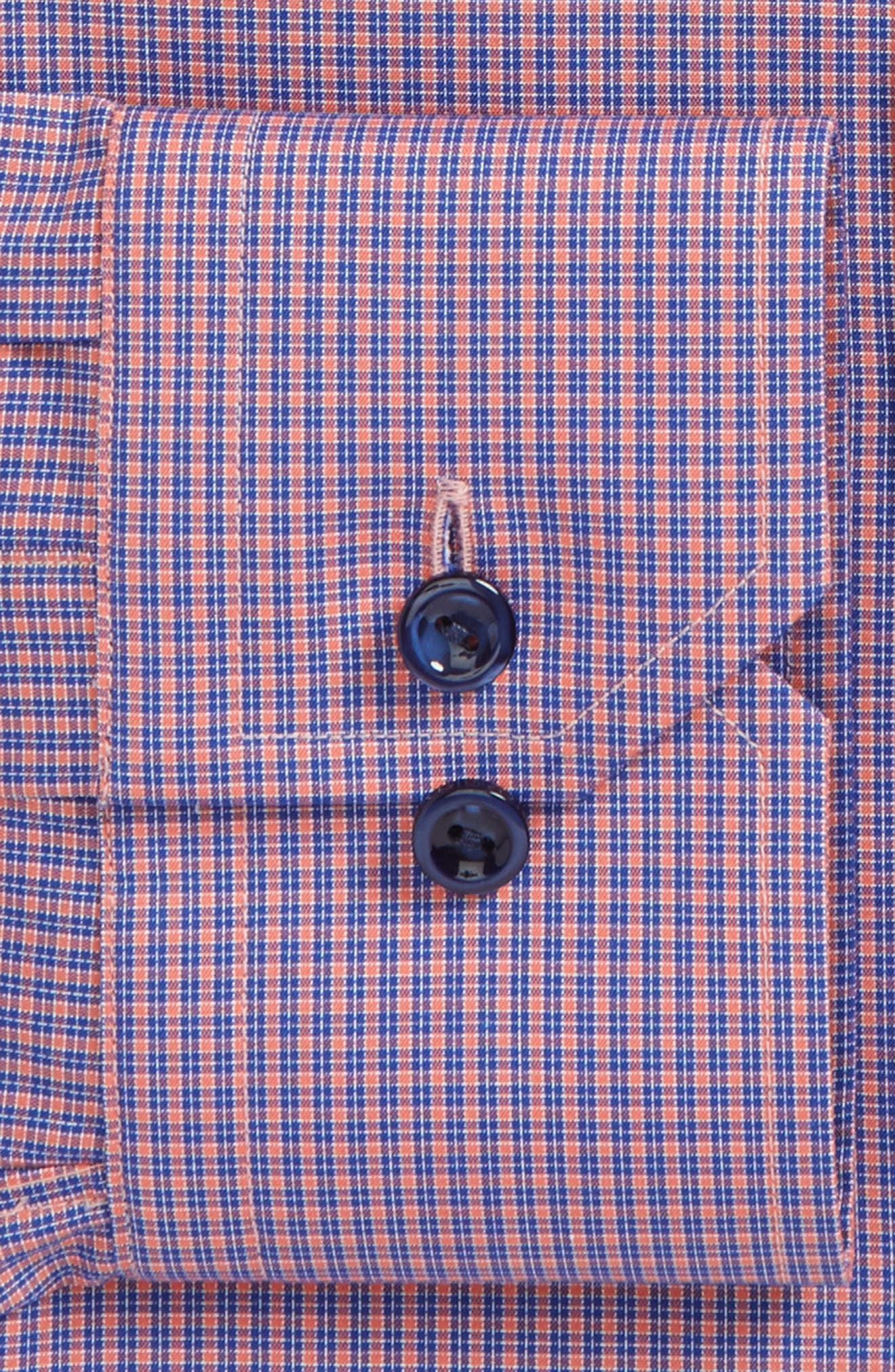 Slim Fit Check Dress Shirt,                             Alternate thumbnail 2, color,                             Red