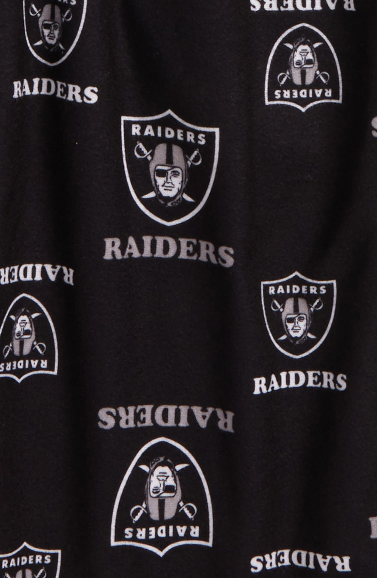 NFL Pajama Pants,                             Alternate thumbnail 2, color,                             Oakland Raiders