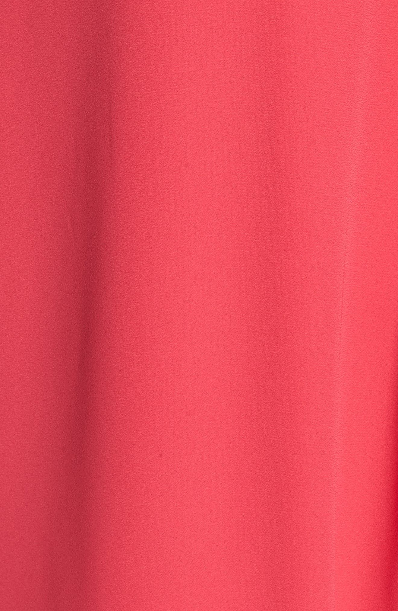 Pleated Blouse,                             Alternate thumbnail 5, color,                             Vibrant Pink