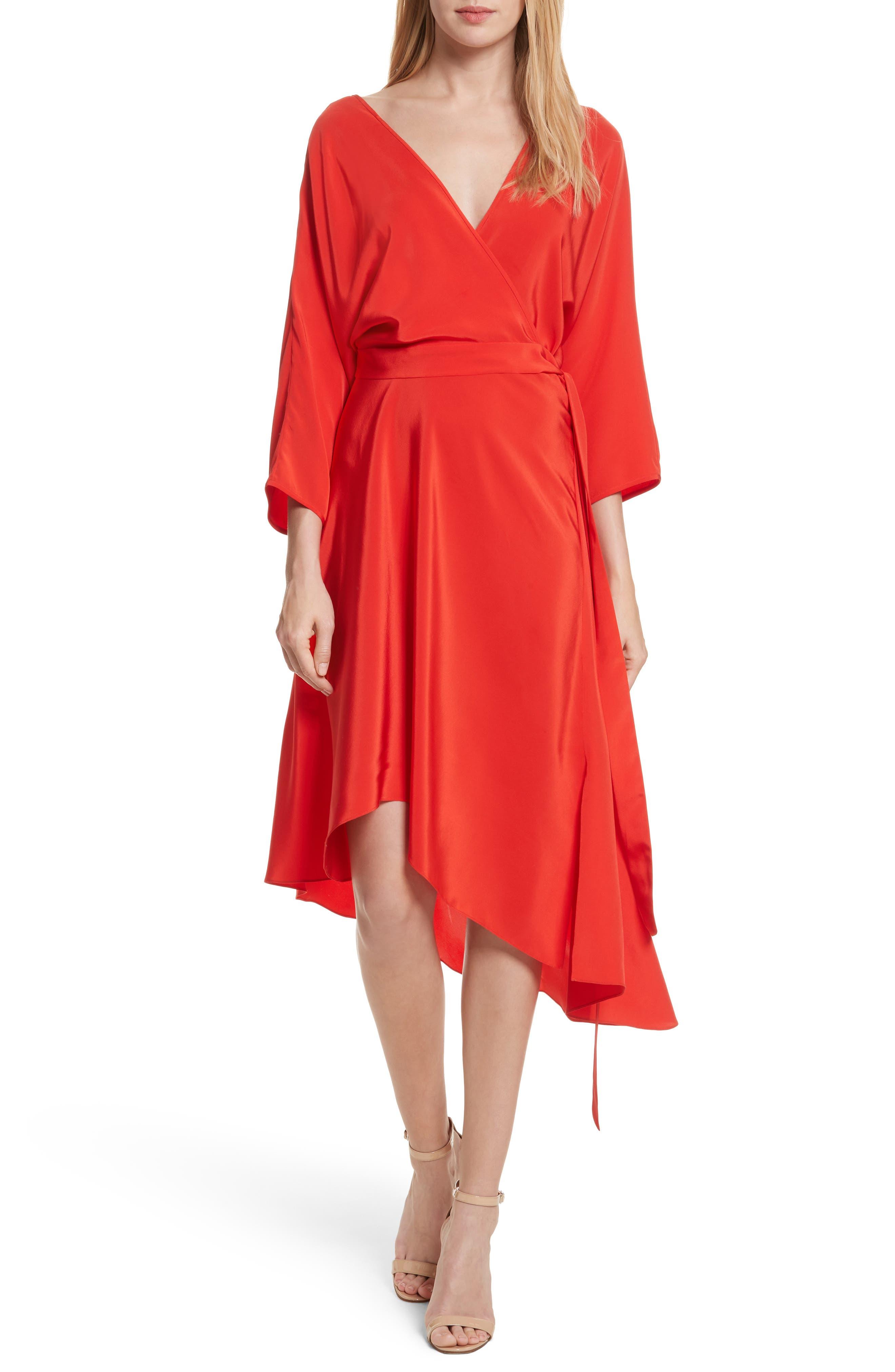 Diane von Furstenberg Asymmetrical Wrap Silk Dress