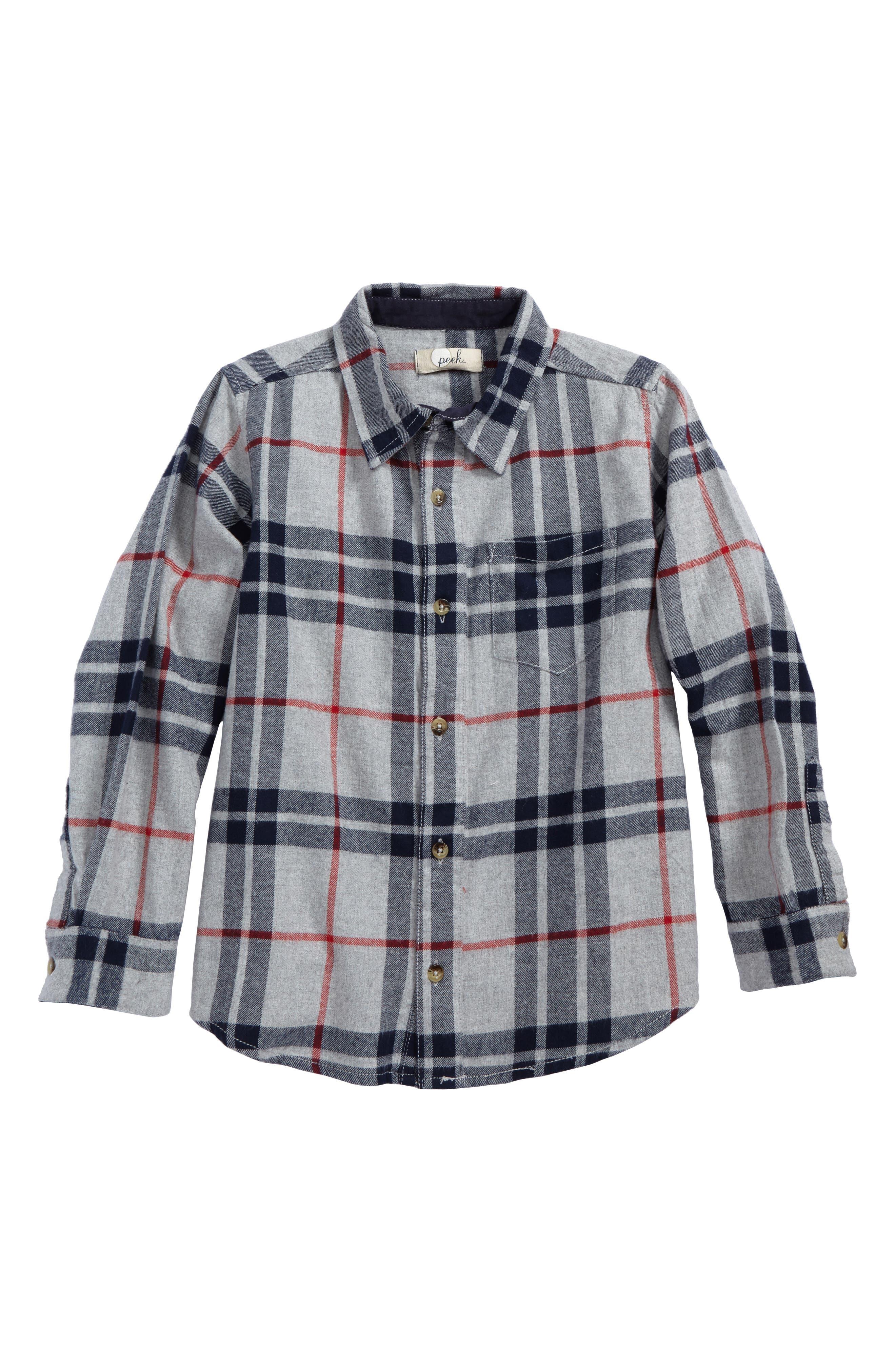Peek Jasper Plaid Flannel Shirt (Toddler Boys, Little Boys & Big Boys)