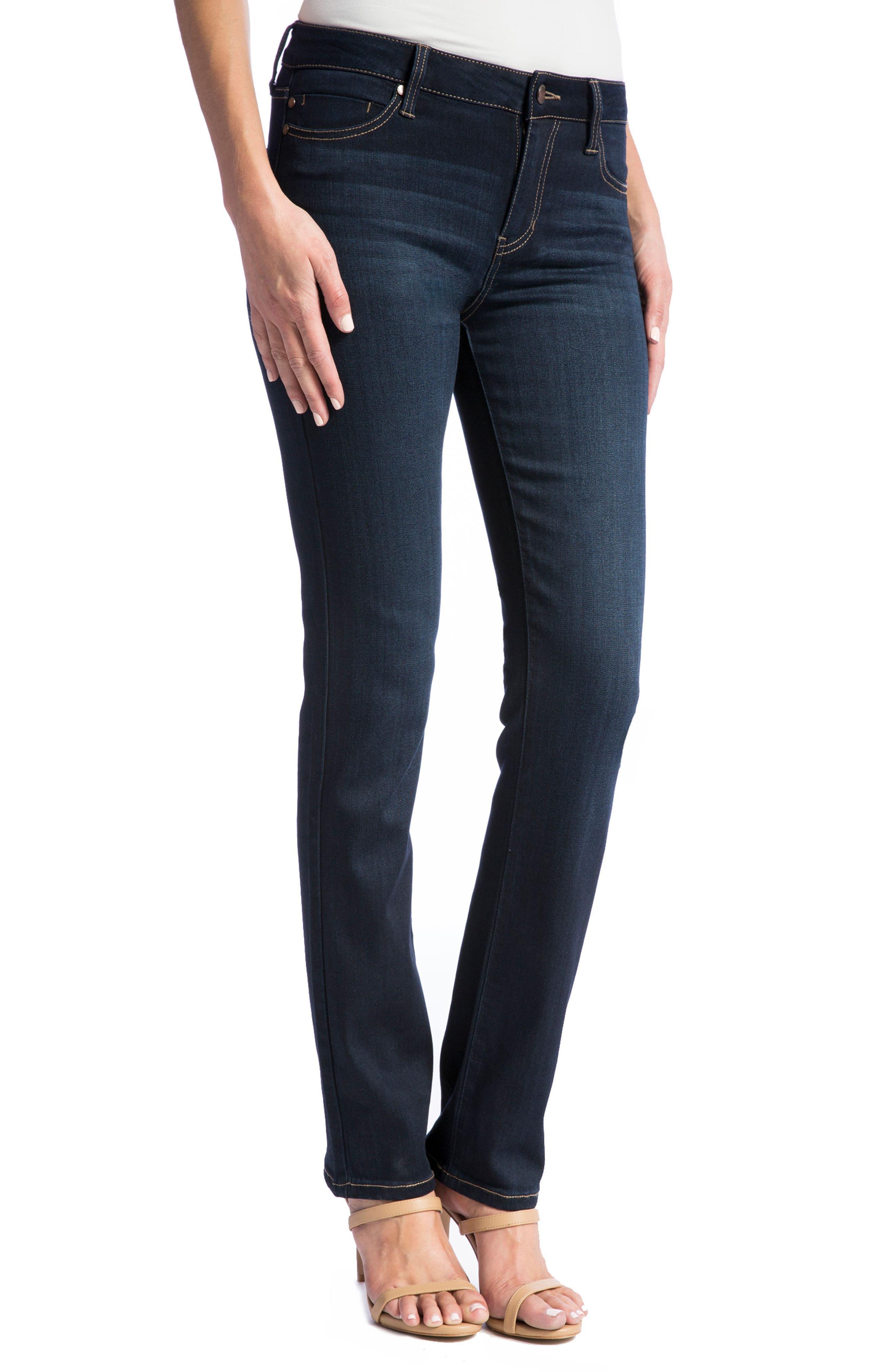Sadie Straight Jeans,                             Alternate thumbnail 3, color,                             Stone Wash