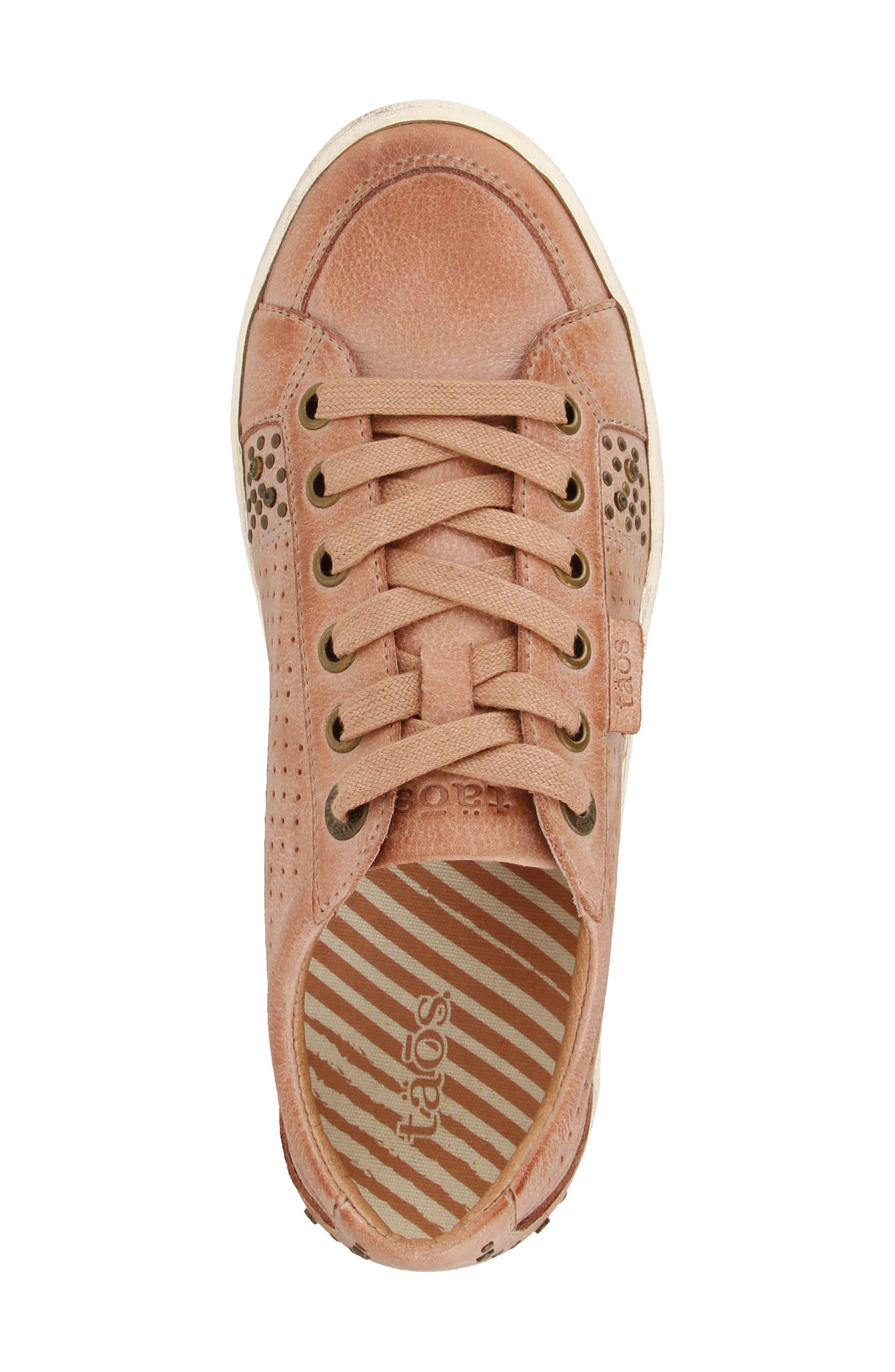 'Freedom' Sneaker,                             Alternate thumbnail 4, color,                             Blush Leather