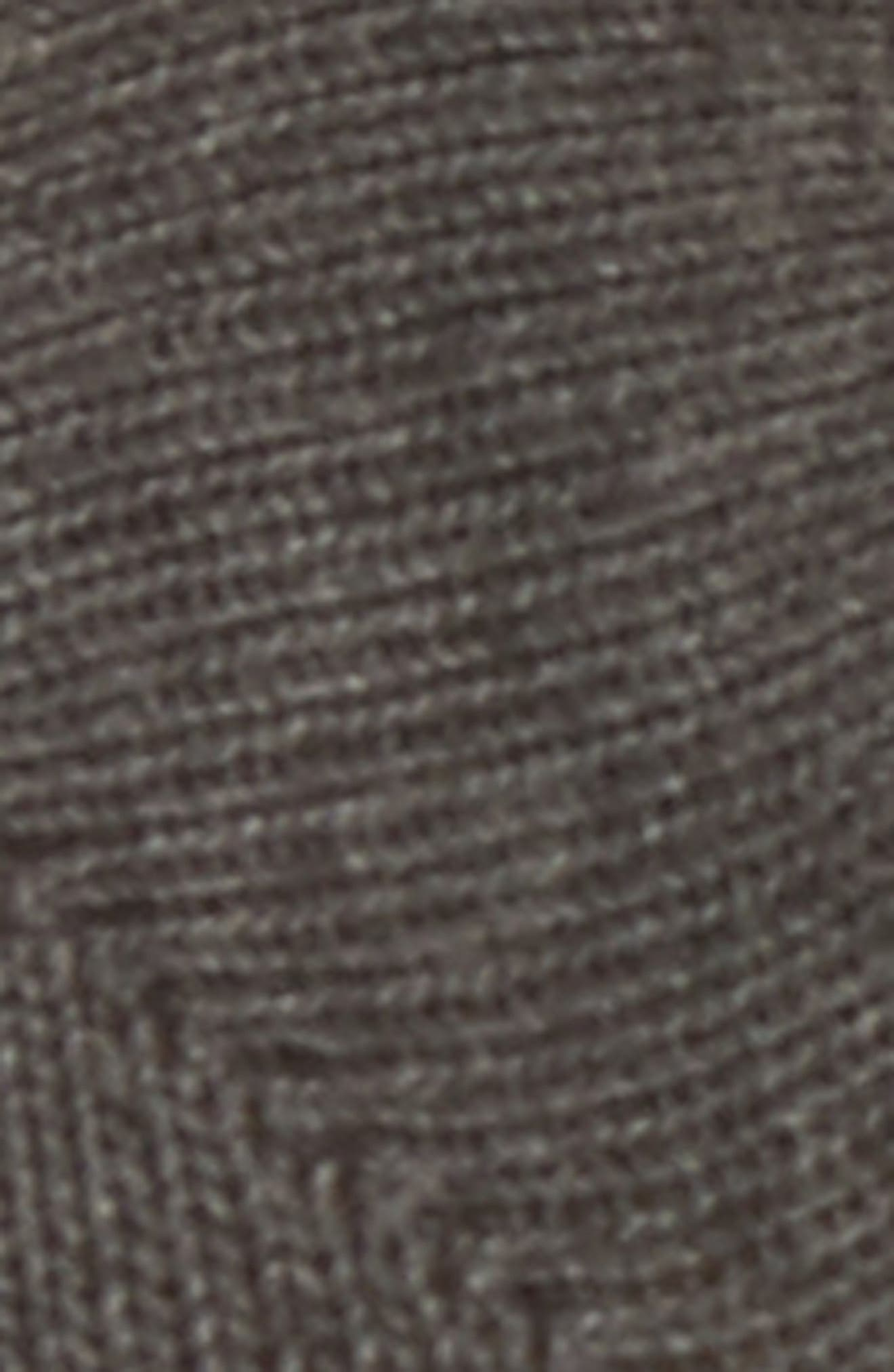 Elle Half Toe Gripper Socks,                             Alternate thumbnail 2, color,                             Charcoal