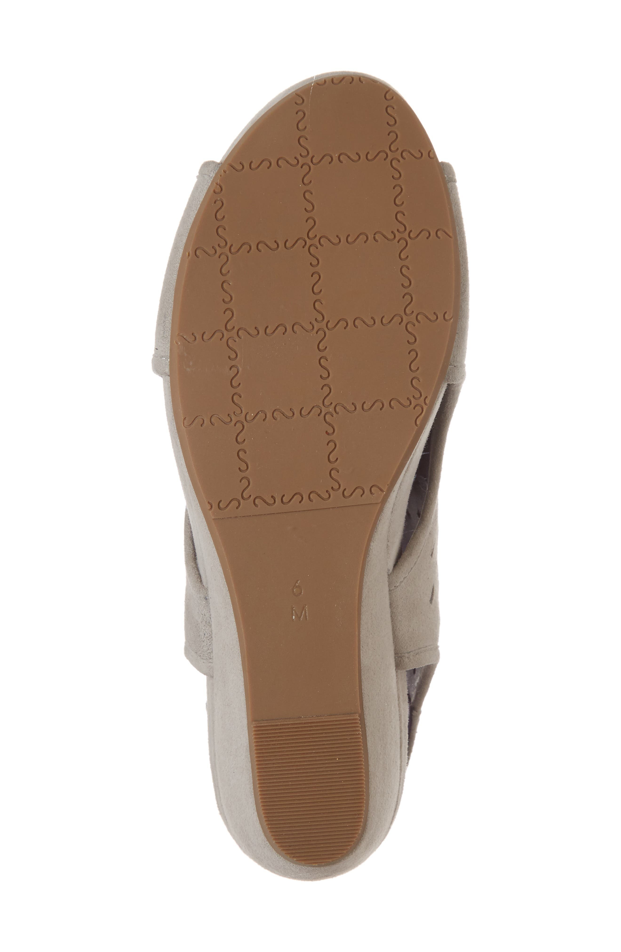Ibis Wedge,                             Alternate thumbnail 6, color,                             Dove Suede