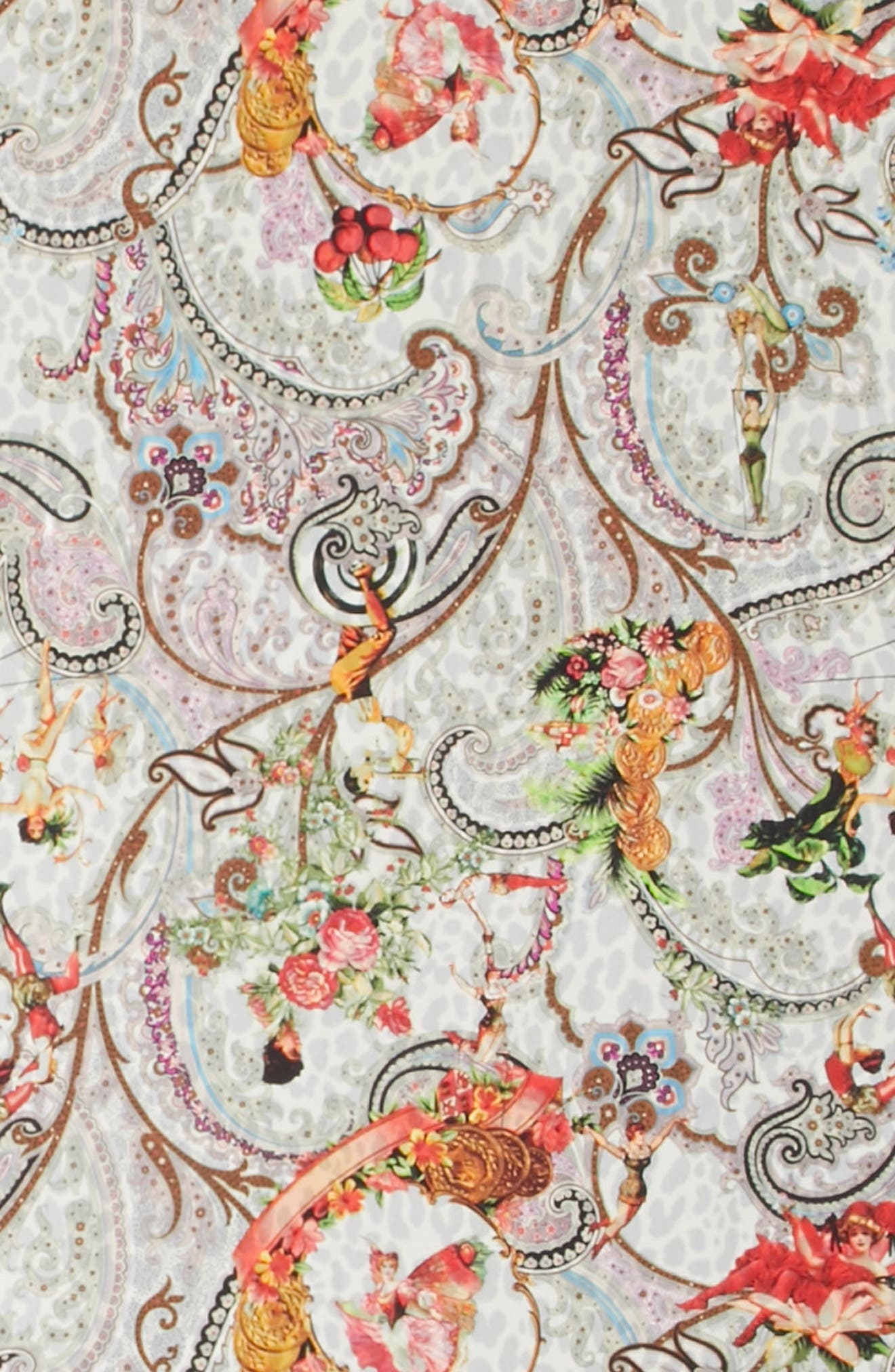 Dancer Paisley Reversible Silk Scarf,                             Alternate thumbnail 4, color,                             White