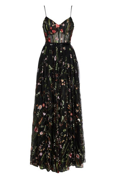 Main Image - Mac Duggal Embroidered Bustier Gown