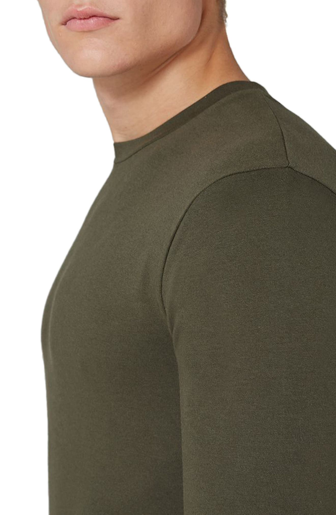 Ultra Muscle Fit Sweatshirt,                             Alternate thumbnail 3, color,                             Olive