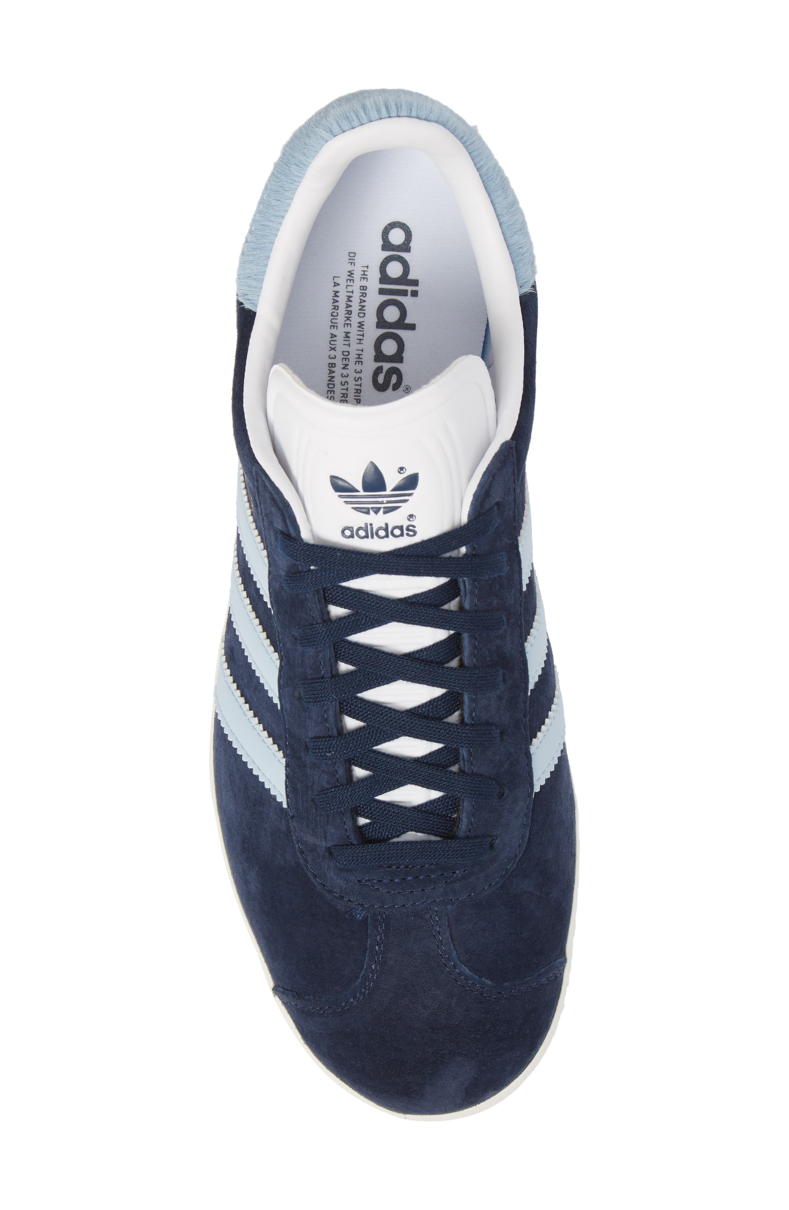 Gazelle Sneaker,                             Alternate thumbnail 5, color,                             Navy/ Easy Blue/ White