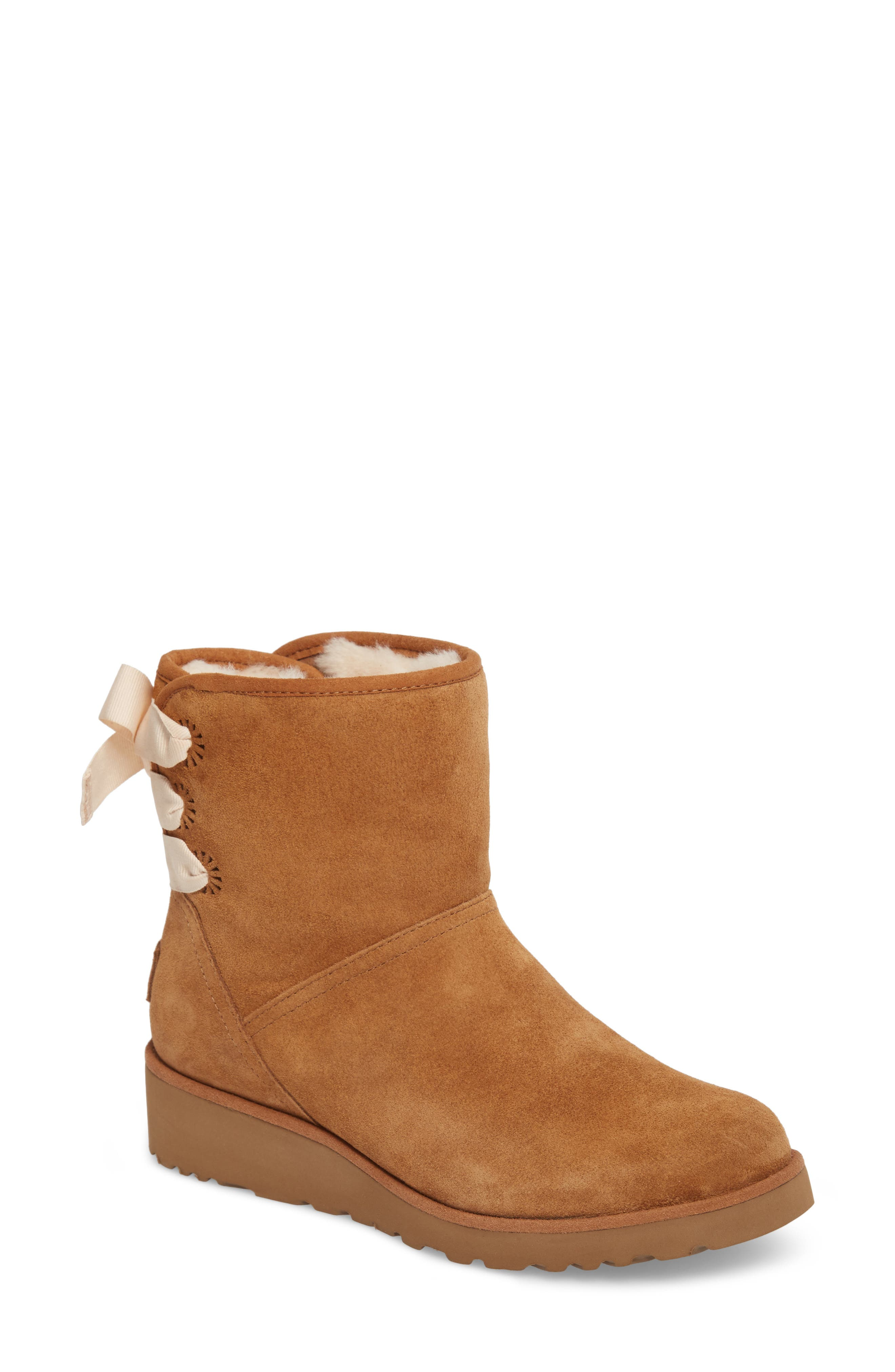 UGG® Drew Sunshine Perforated Tie Back Boot (Women)