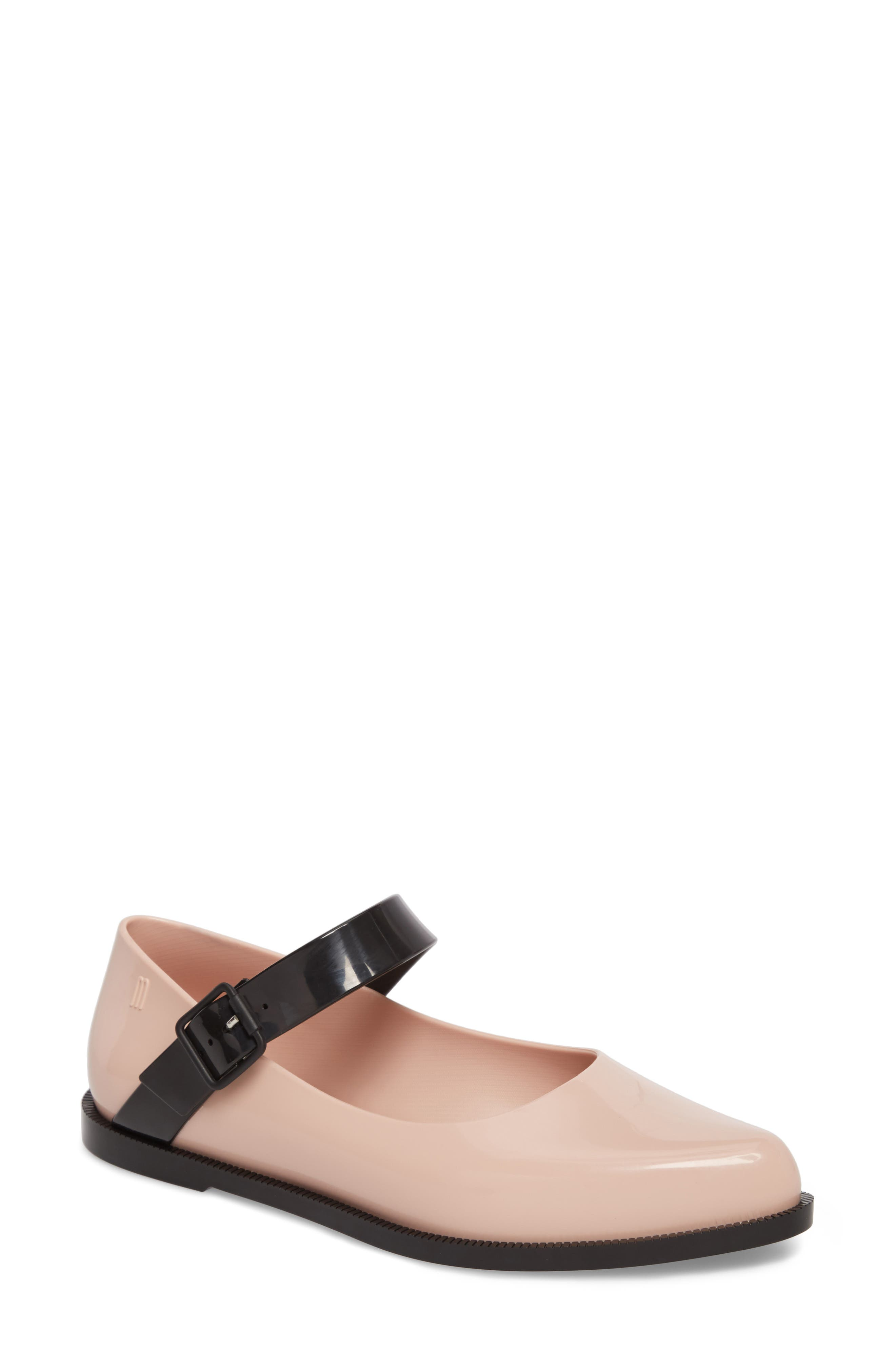 Melissa Pointy Toe Mary Jane Flat (Women)