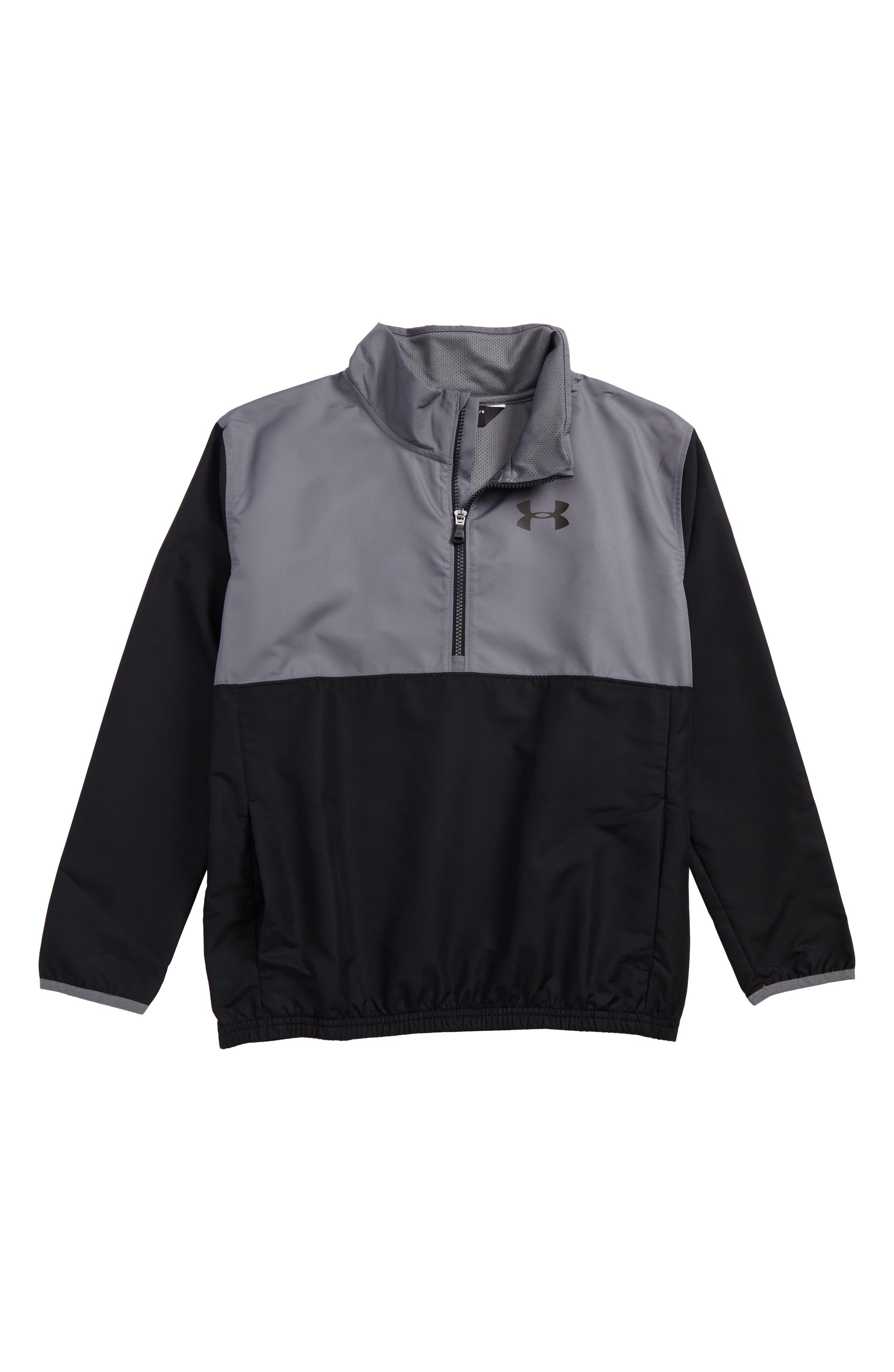 Train to Game Half Zip Pullover,                         Main,                         color, Black/ Graphite
