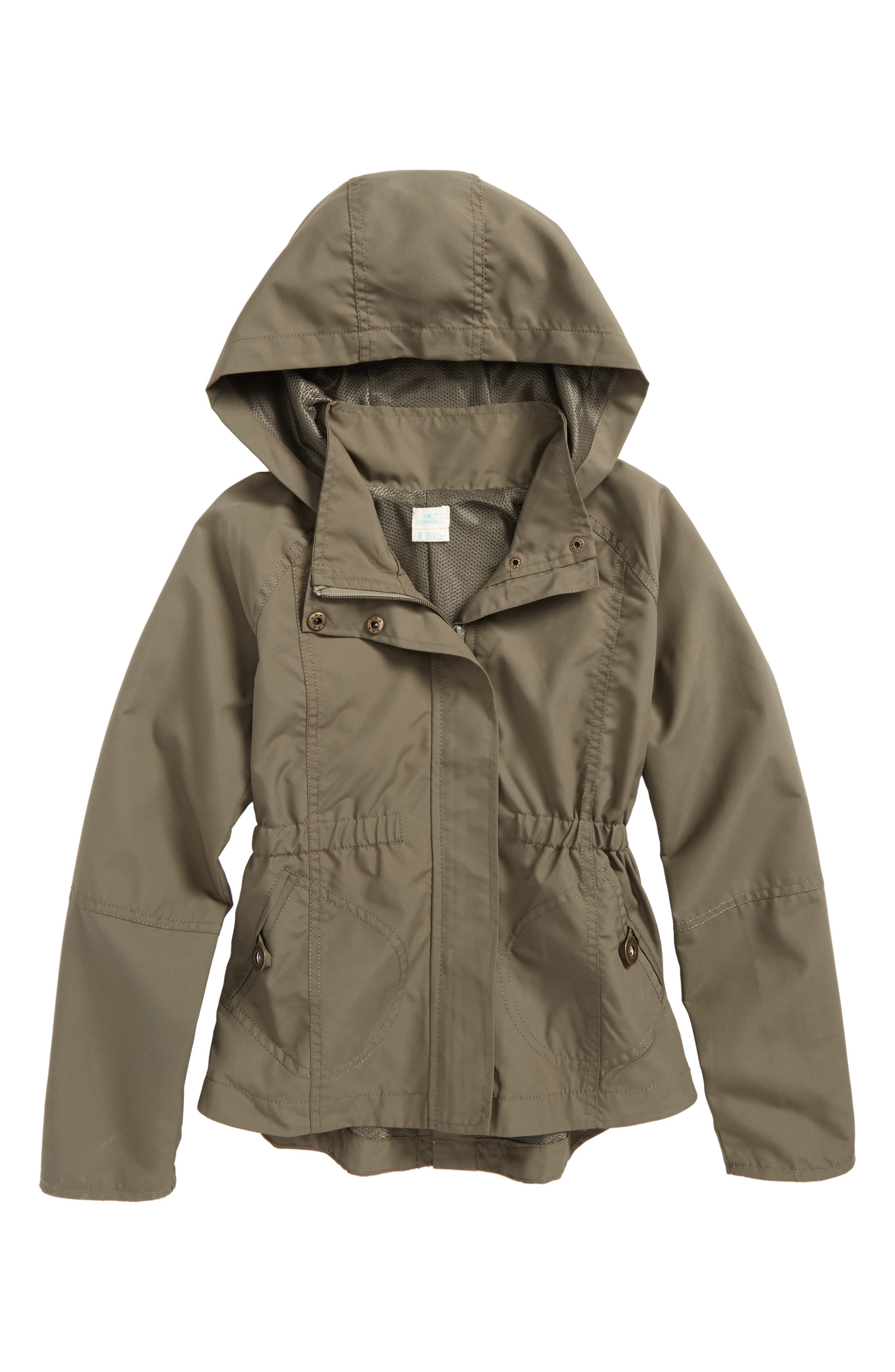 O'Neill Windy Water Resistant Hooded Jacket (Big Girls)