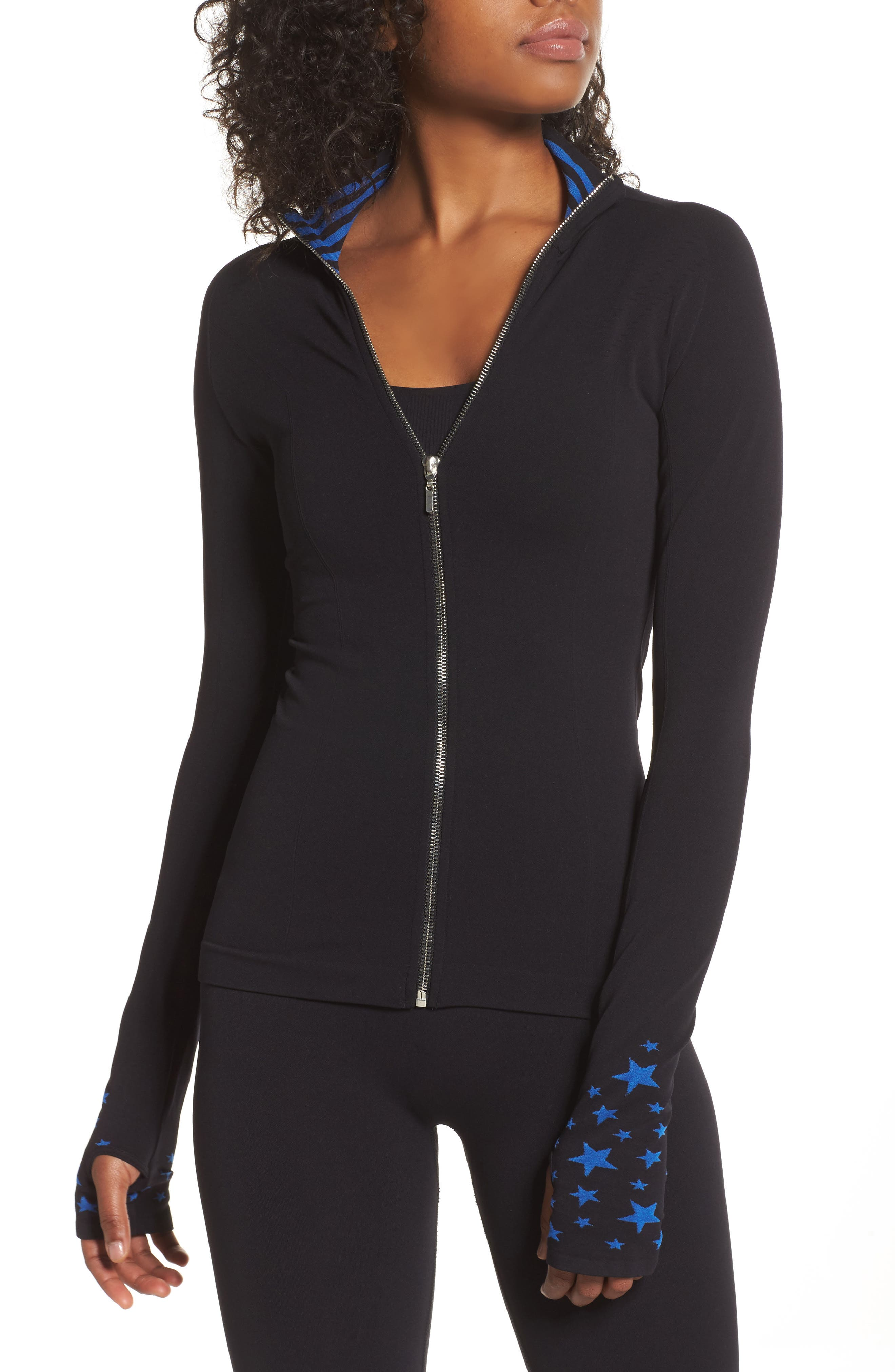 Main Image - BoomBoom Athletica Seamless Star Jacket