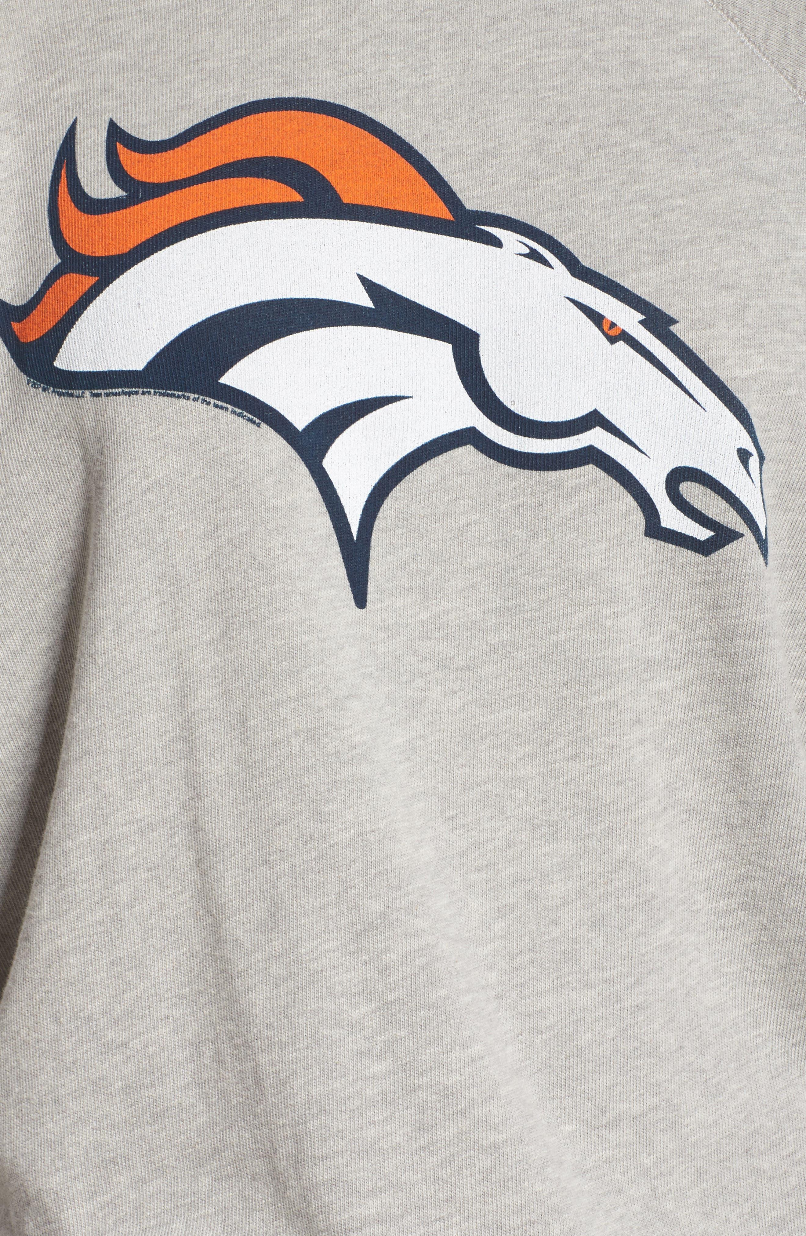 NFL Denver Broncos Hacci Sweatshirt,                             Alternate thumbnail 5, color,                             Dove Heather Grey
