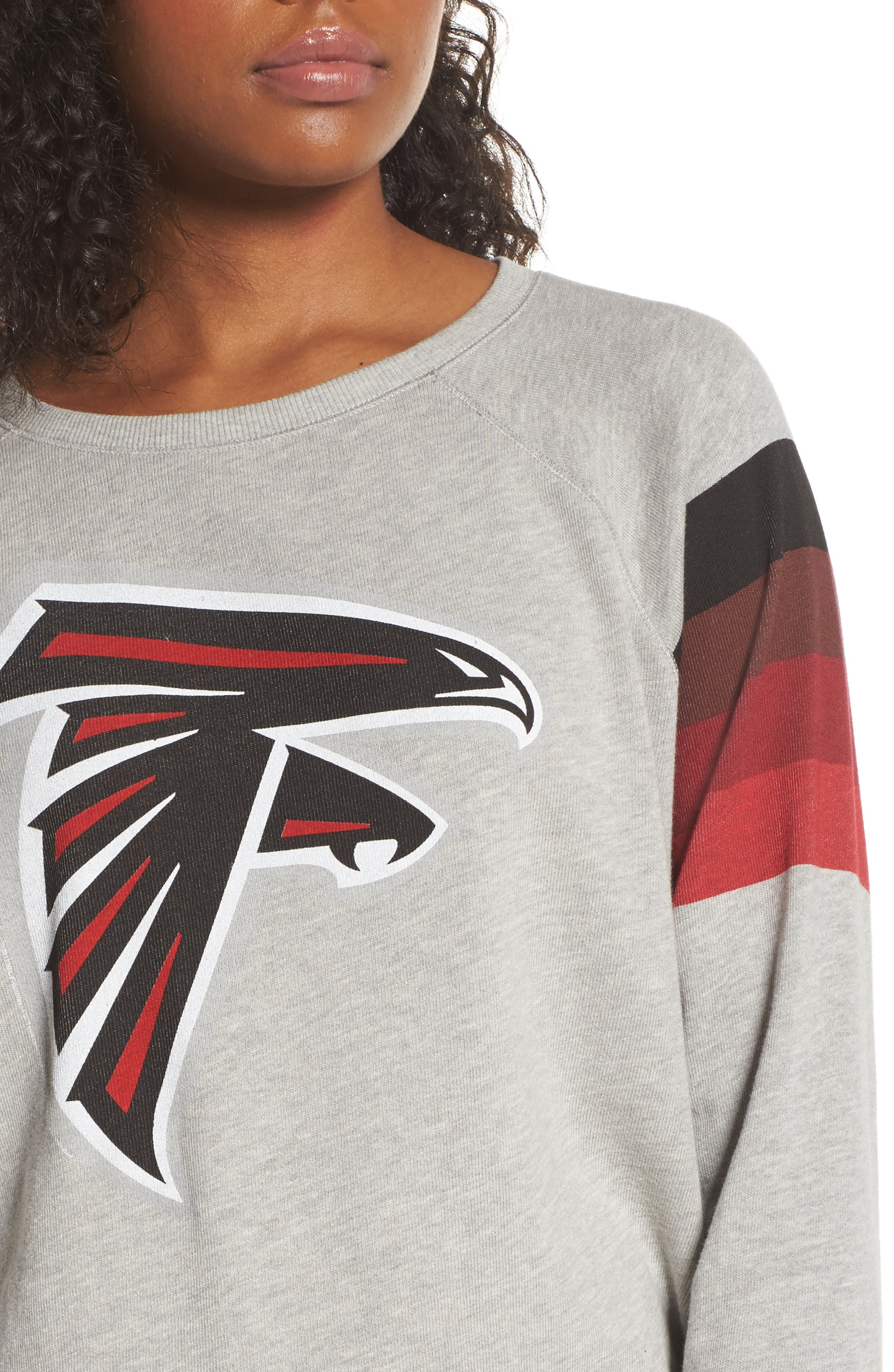 NFL Atlanta Falcons Hacci Sweatshirt,                             Alternate thumbnail 4, color,                             Dove Heather Grey