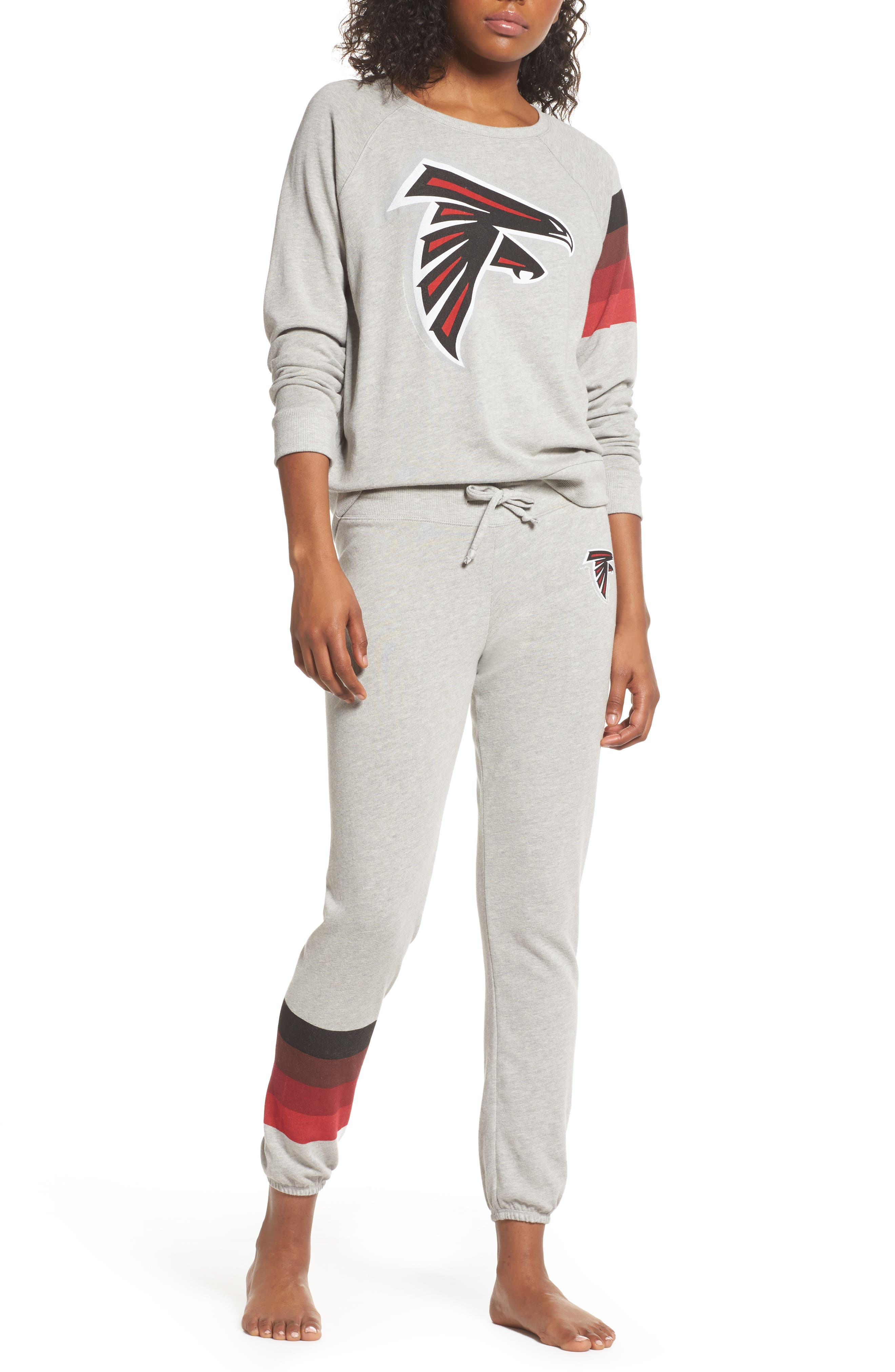 NFL Atlanta Falcons Hacci Sweatshirt,                             Alternate thumbnail 6, color,                             Dove Heather Grey