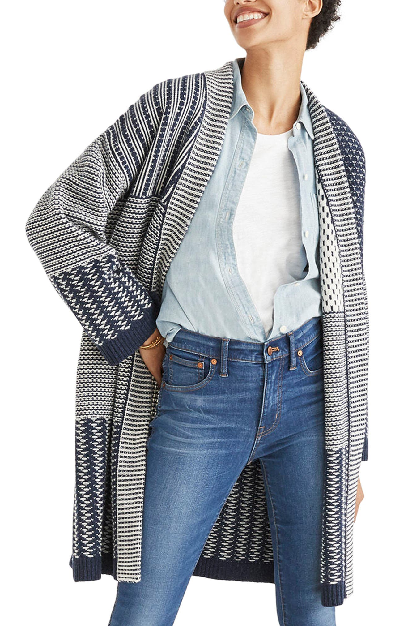 Alternate Image 1 Selected - Madewell Patchwork Collage Cardigan