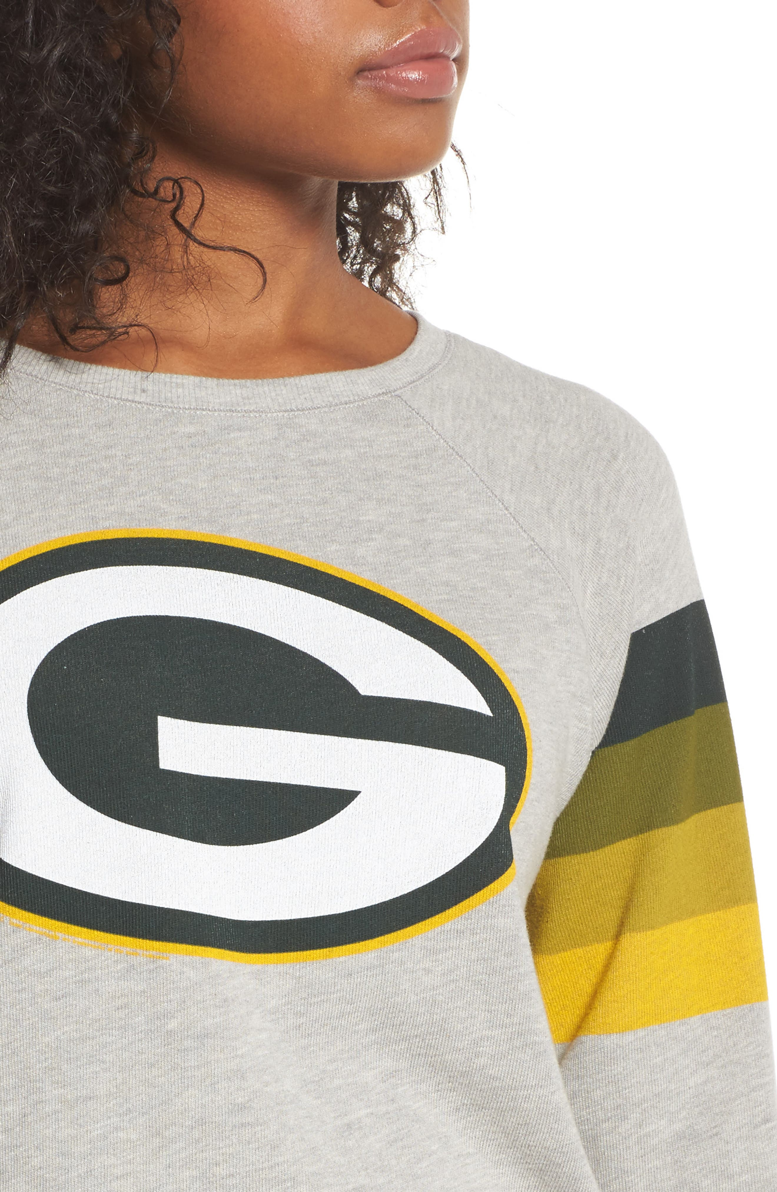 NF Green Bay Packers Hacci Sweatshirt,                             Alternate thumbnail 4, color,                             Dove Heather Grey