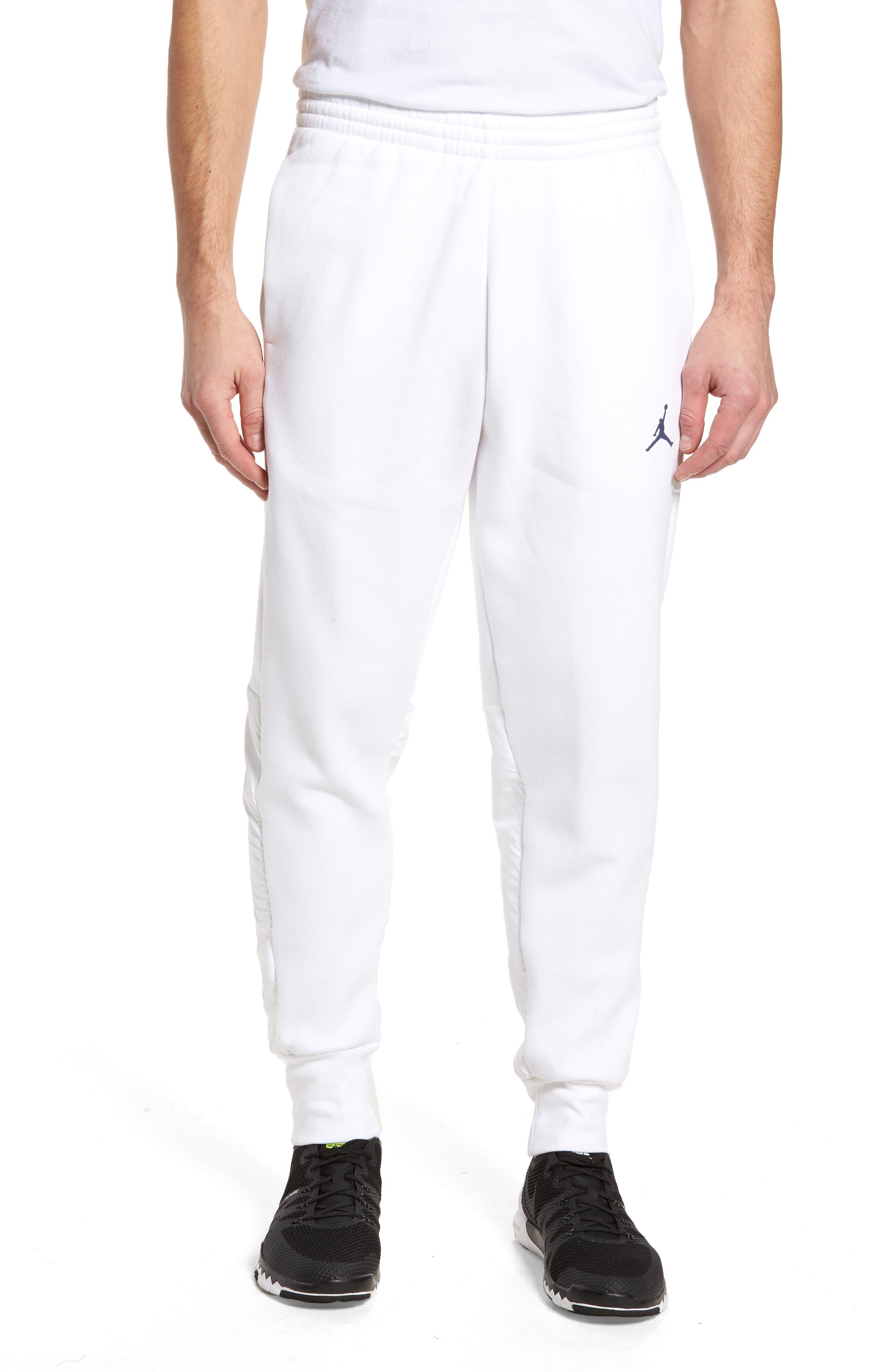 Jordan AJ11 Hybrid Pants,                             Main thumbnail 1, color,                             White