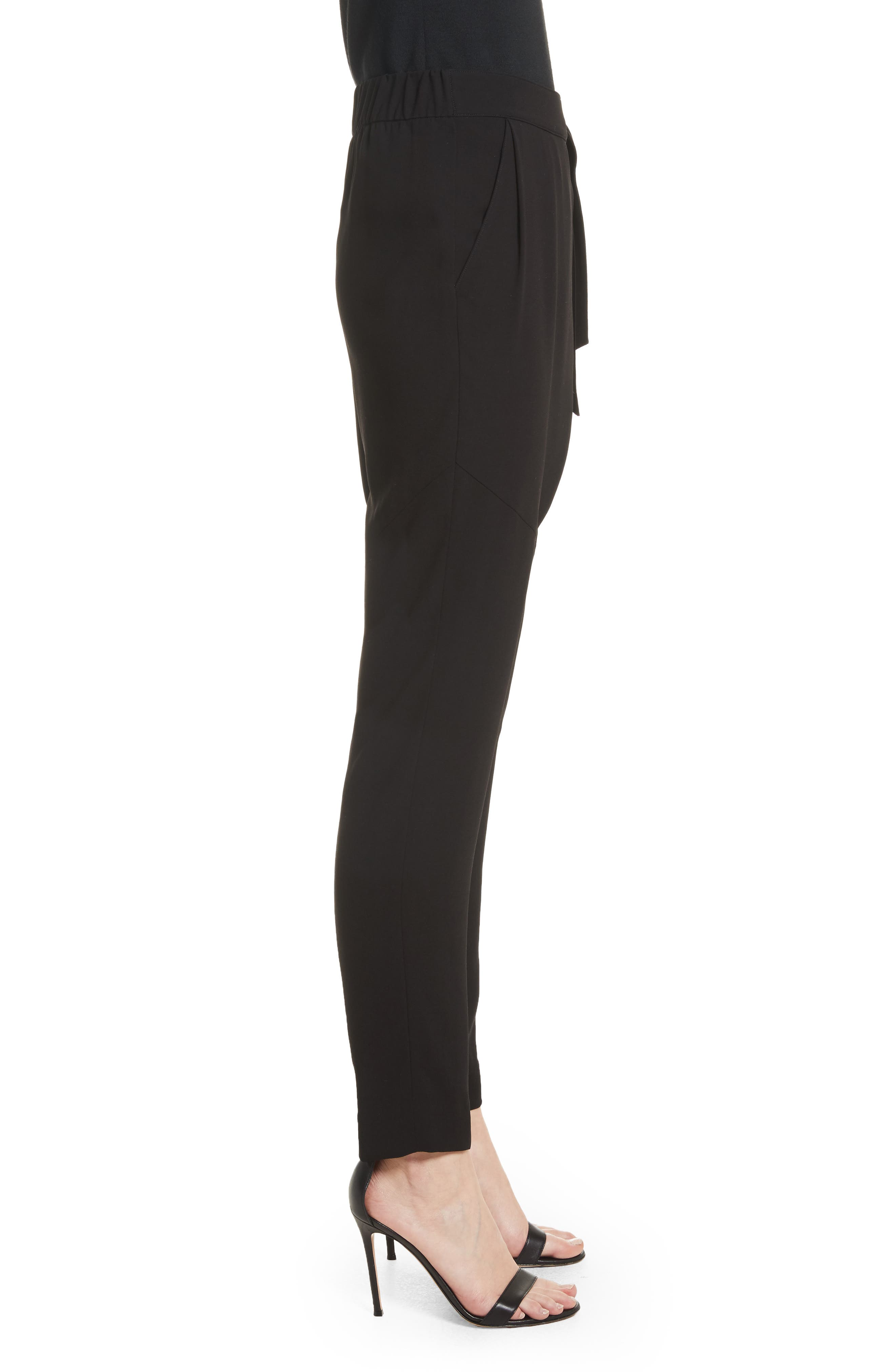 Alternate Image 5  - St. John Collection Satin Back Crepe Wrap Waist Pants