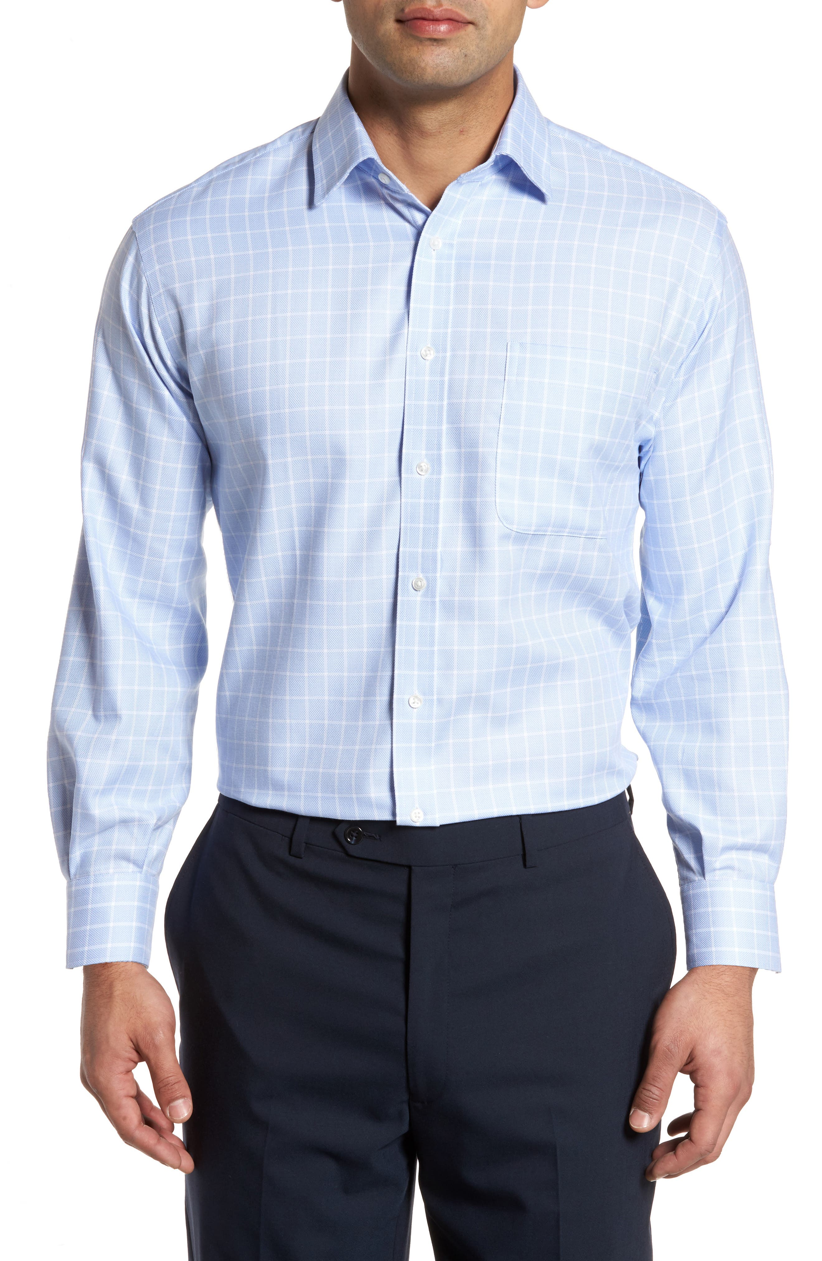 Alternate Image 1 Selected - Nordstrom Men's Shop Classic Fit No-Iron Check Dress Shirt