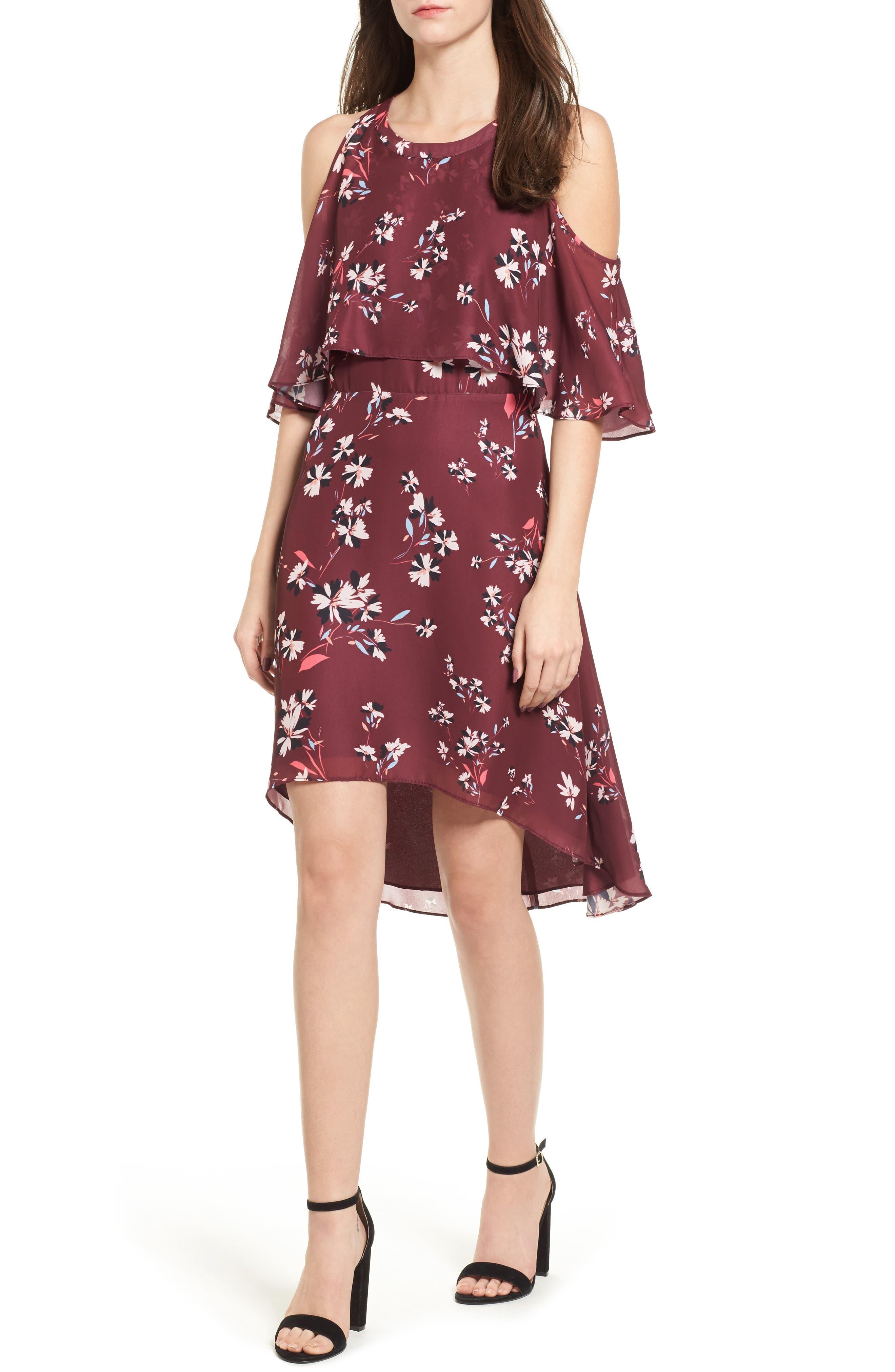 Mia Cold Shoulder Dress,                         Main,                         color, Lotus