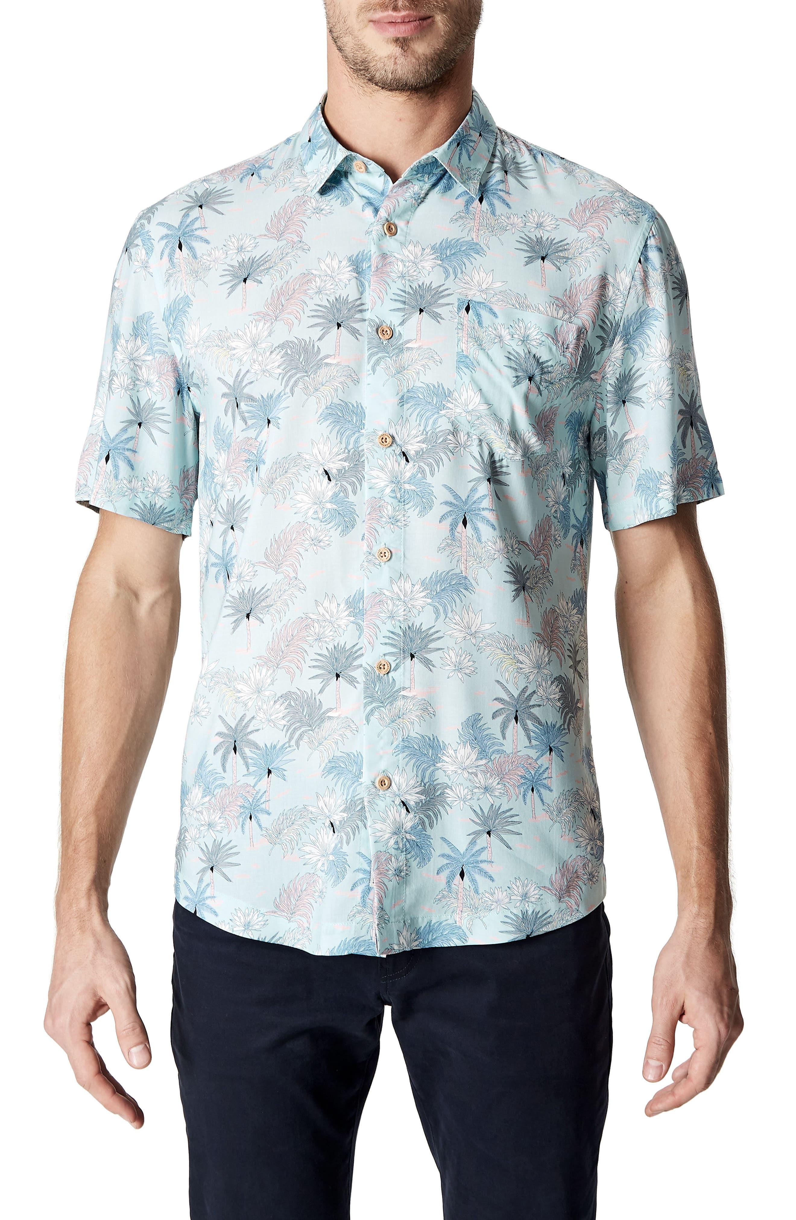 Rebel Music Trim Fit Short Sleeve Sport Shirt,                             Main thumbnail 1, color,                             Mint