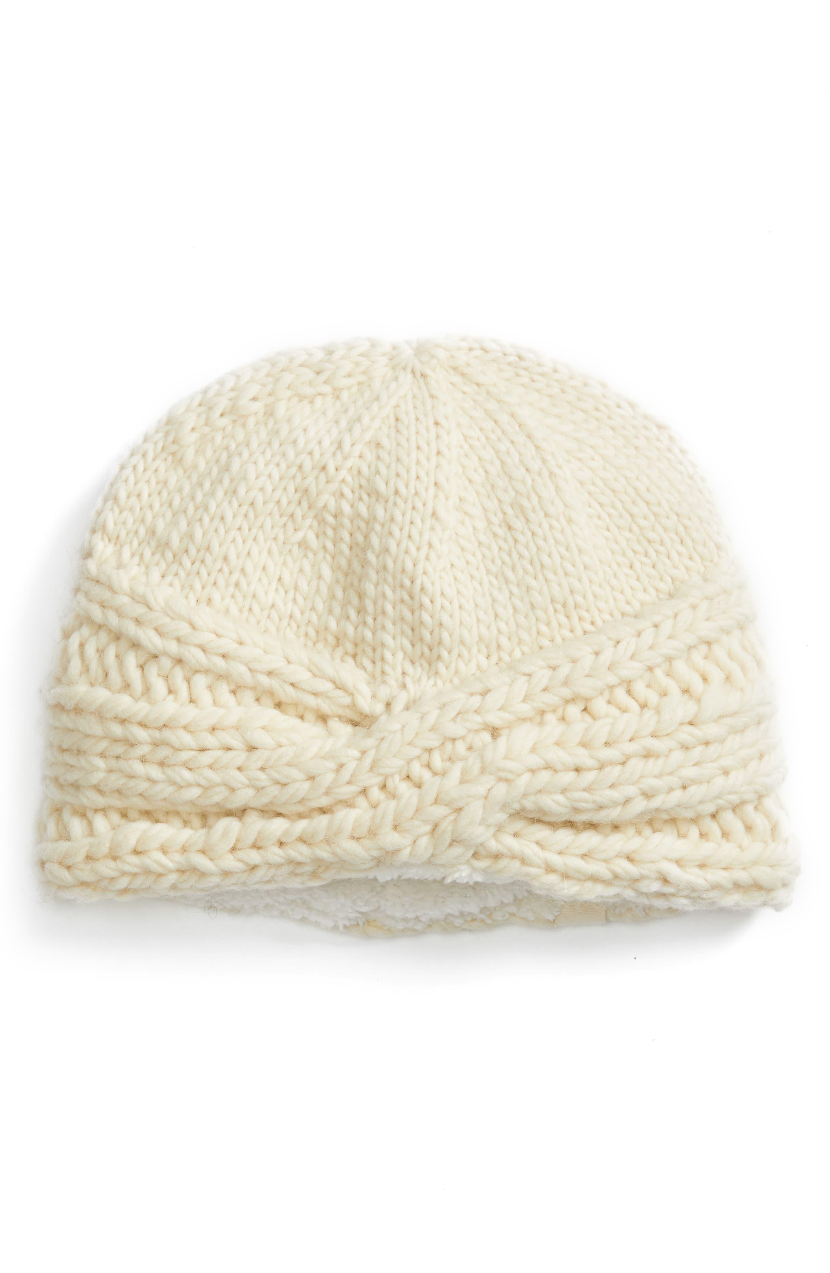 Nirvanna Designs Lana Turban Cabled Wool Beanie
