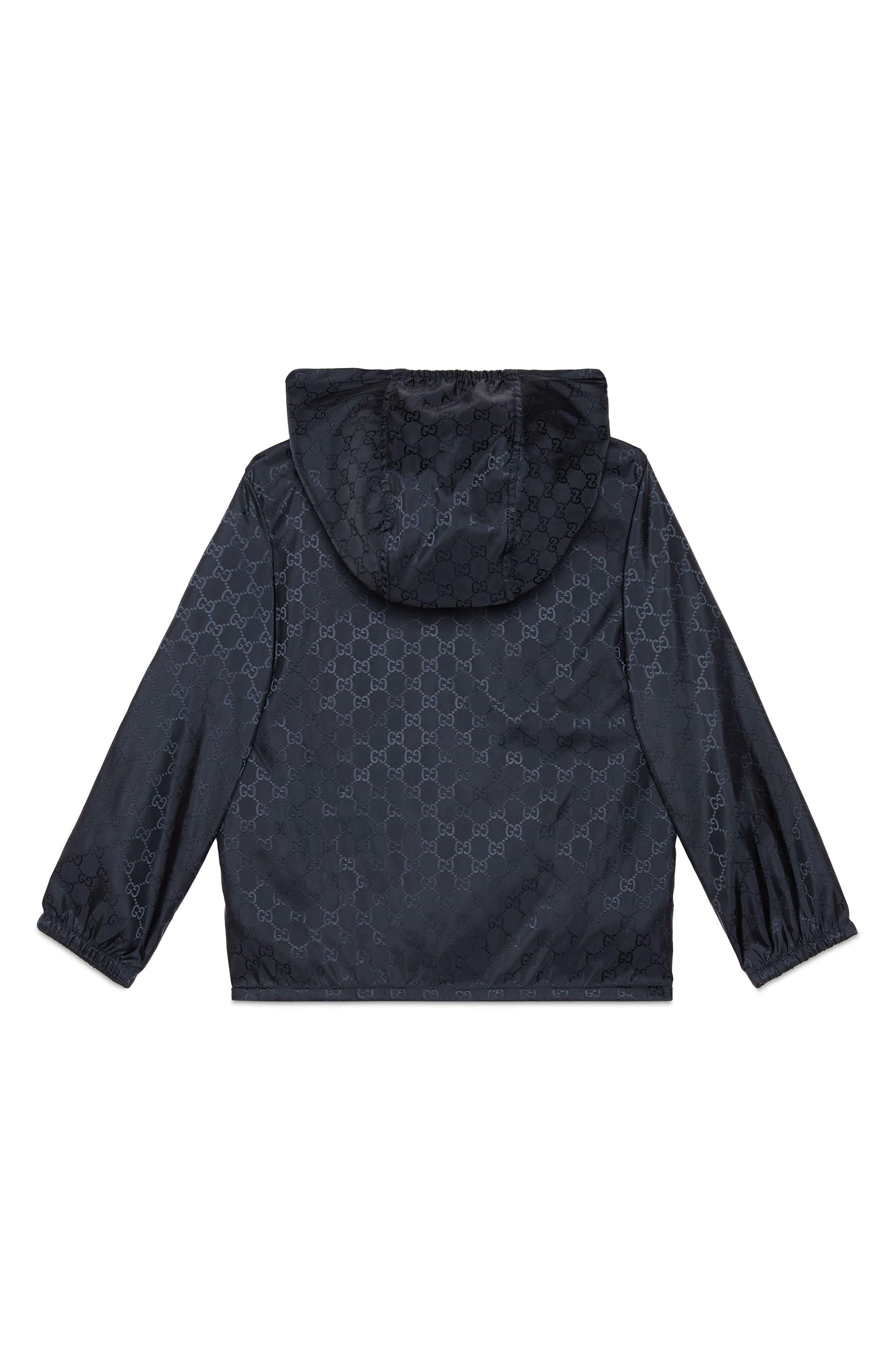 Alternate Image 2  - Gucci Logo Hooded Nylon Jacket (Little Boys & Big Boys)