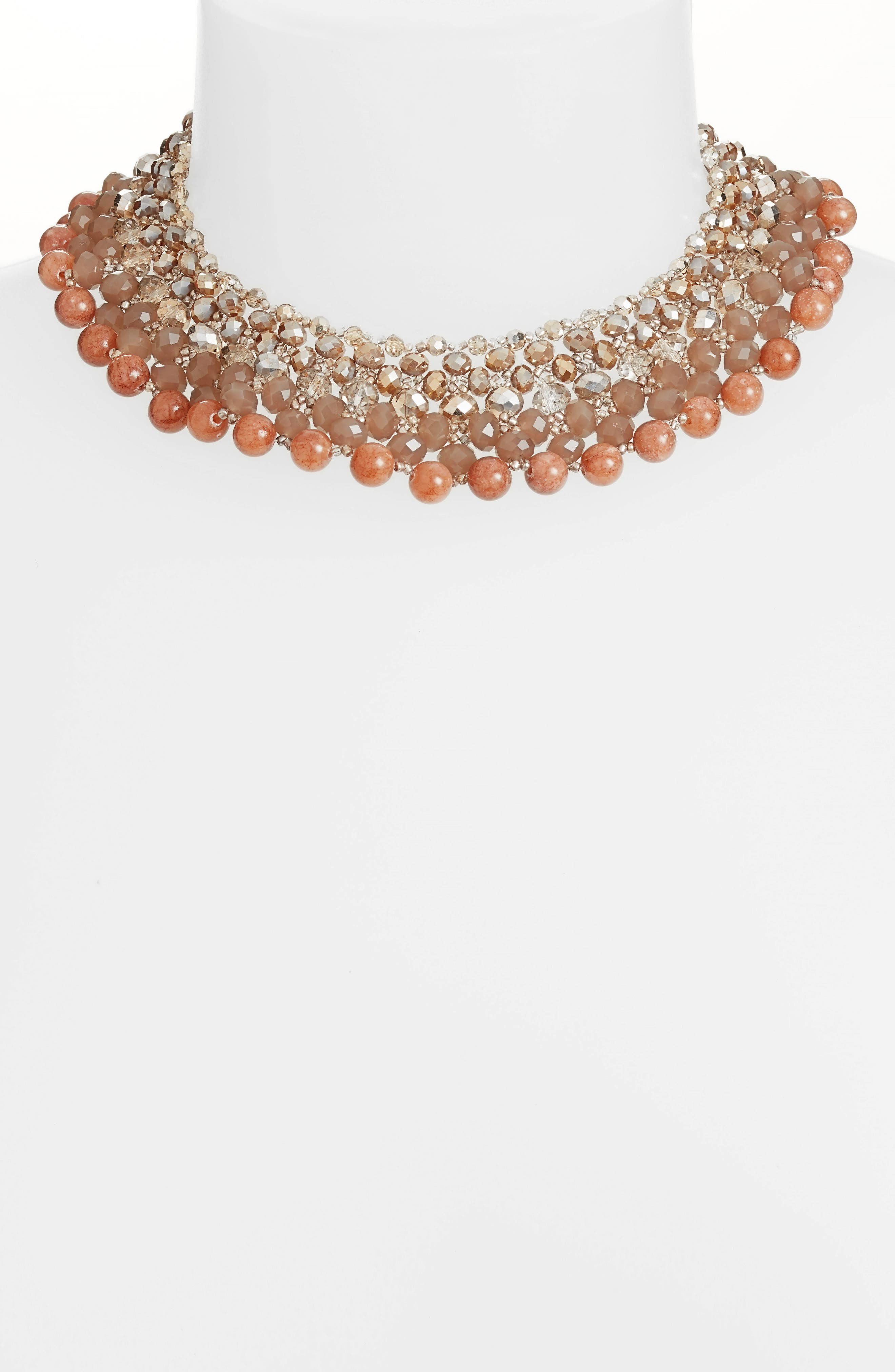 Alternate Image 2  - Nakamol Design Crochet Stone Collar Necklace